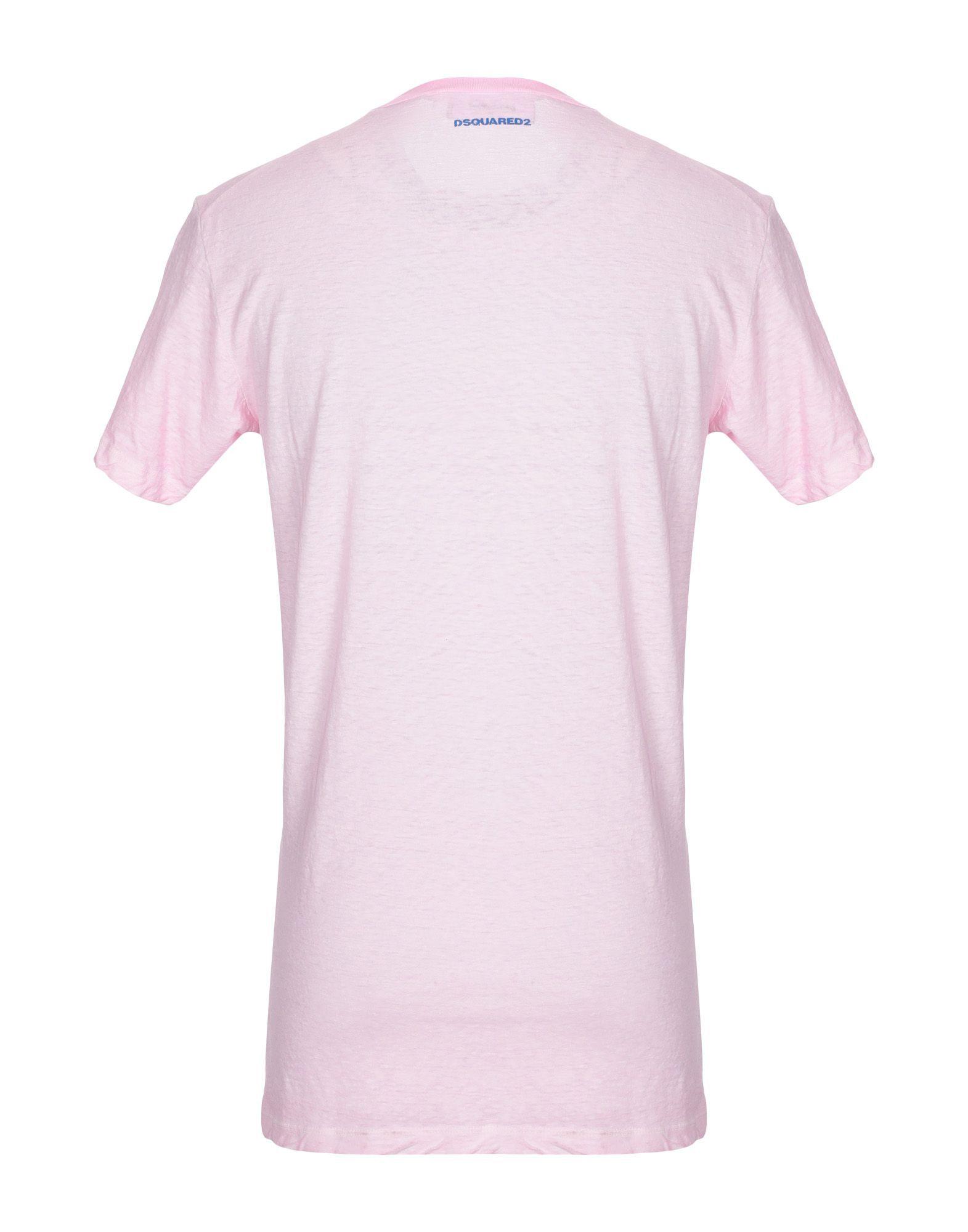 TOPWEAR Dsquared2 Pink Man Cotton