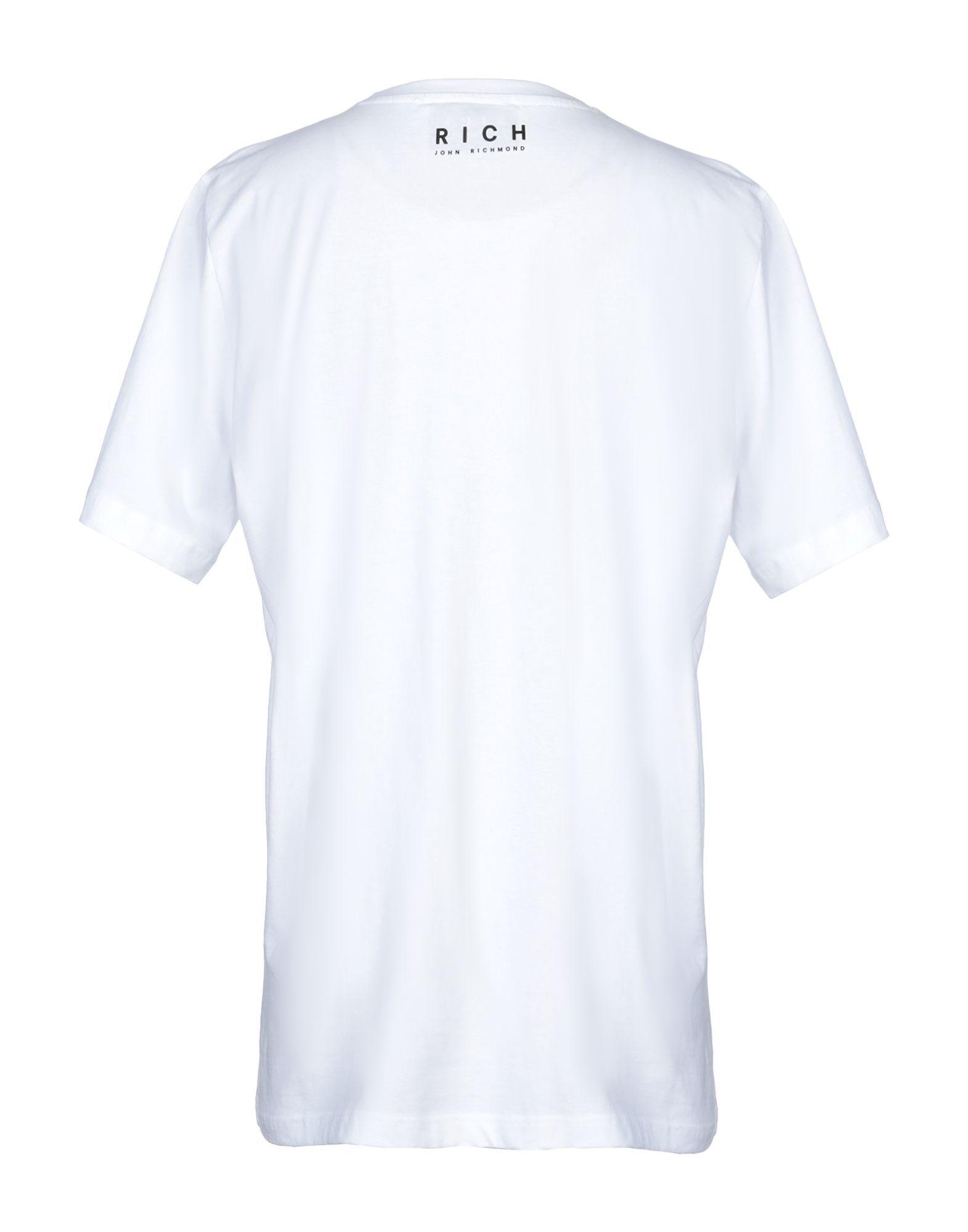 John Richmond White Print Cotton T-Shirt