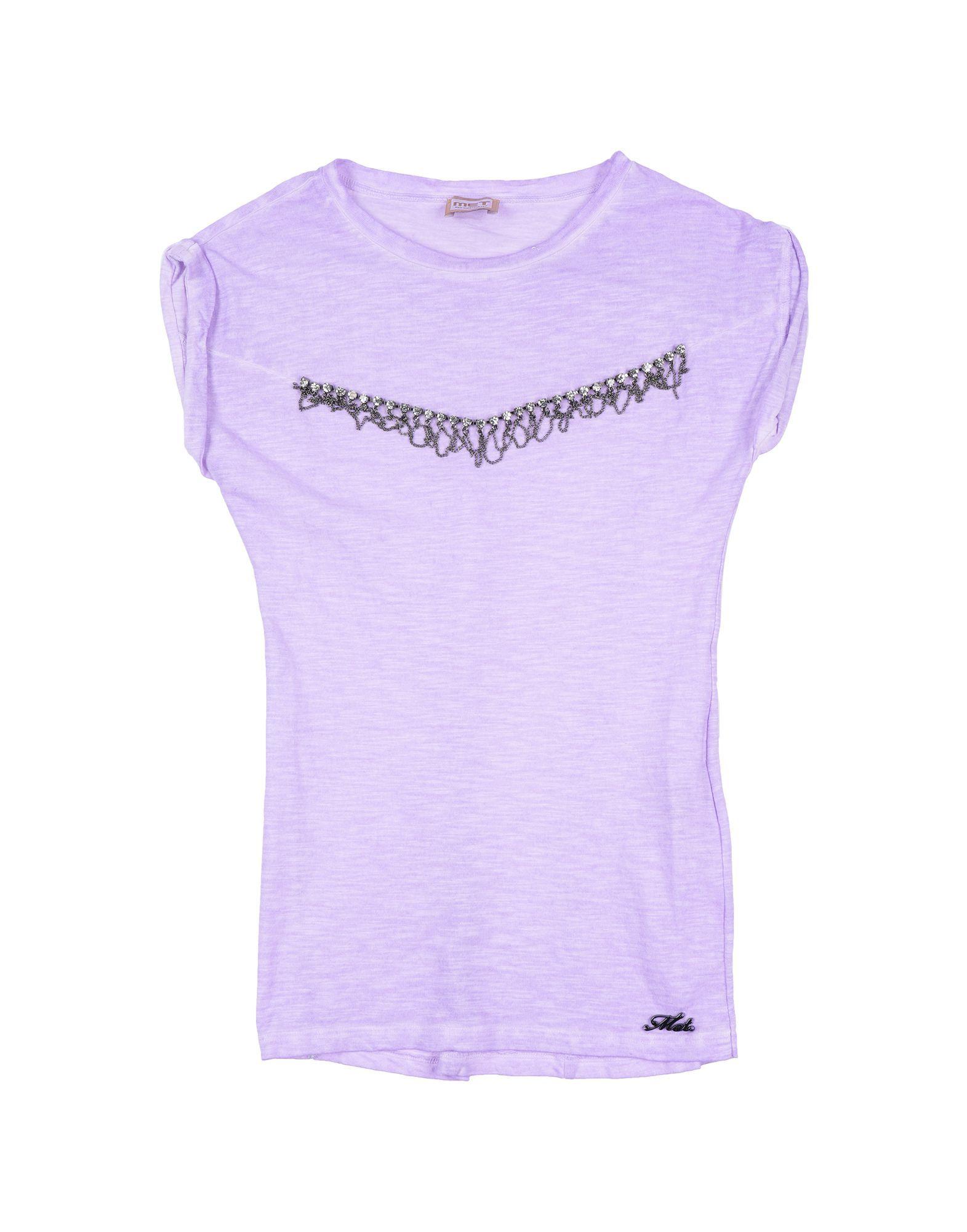 TOPWEAR Girl Met Jeans Purple Cotton
