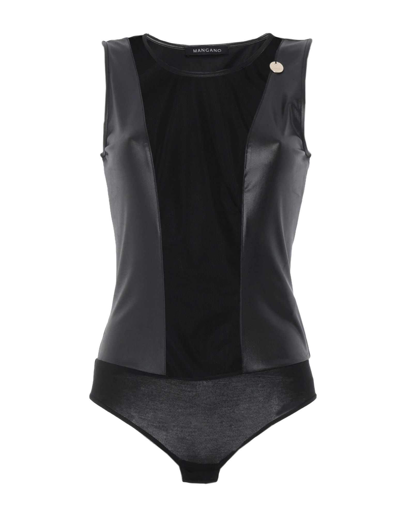 Mangano Jersey And Tulle Sleeveless Bodysuit
