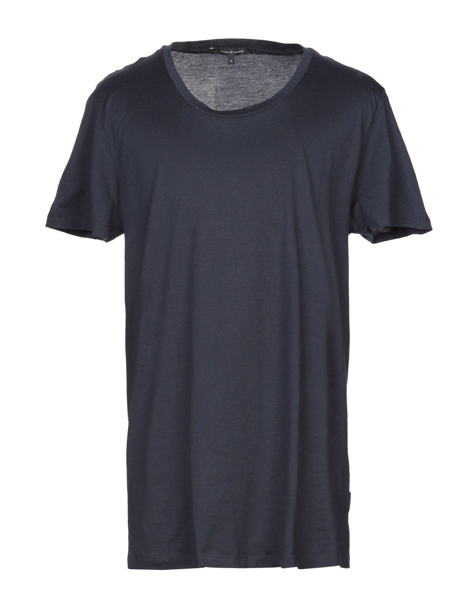Tiger Of Sweden Blue Cotton T-Shirt