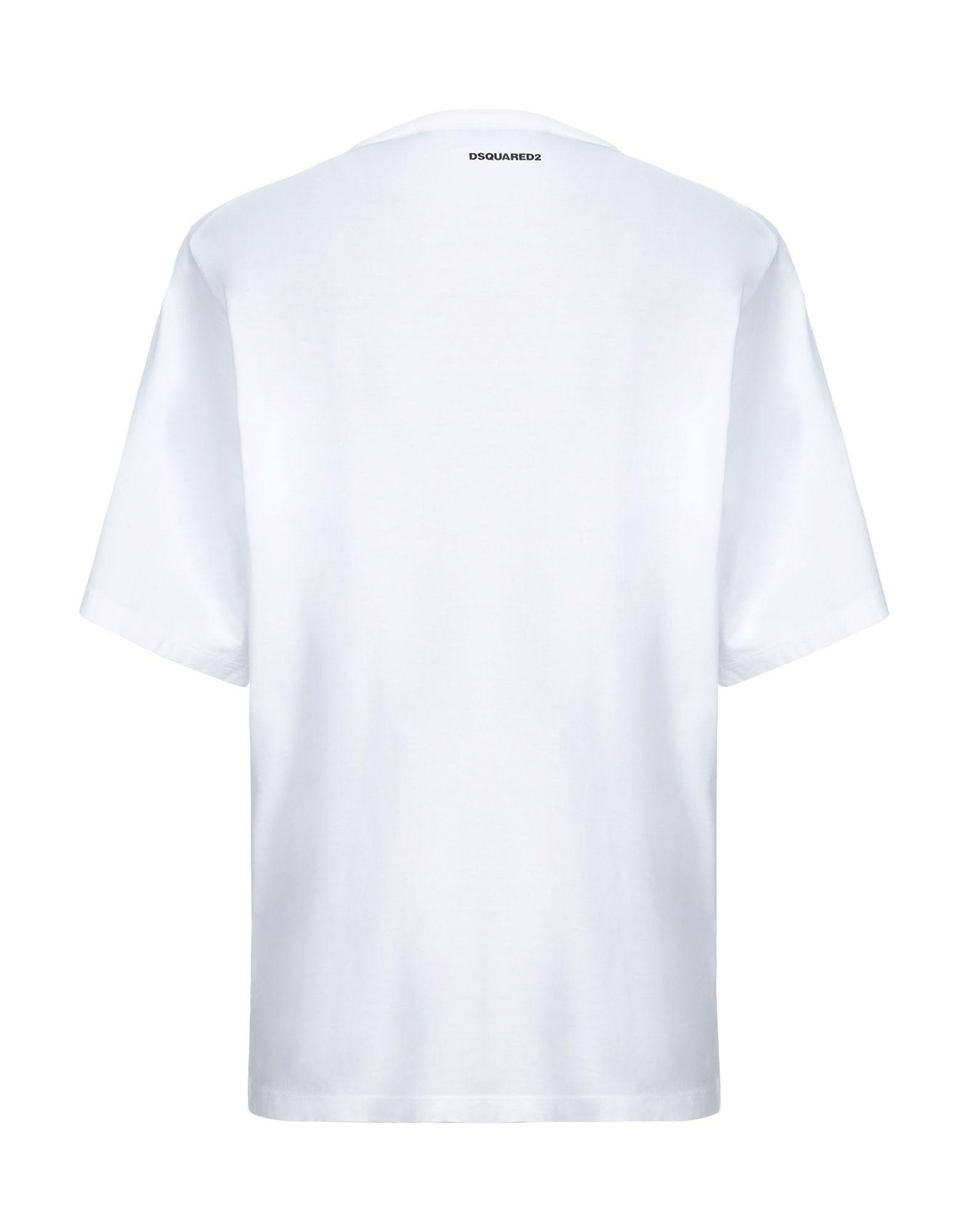 Dsquared2 White Cotton Print T-Shirt
