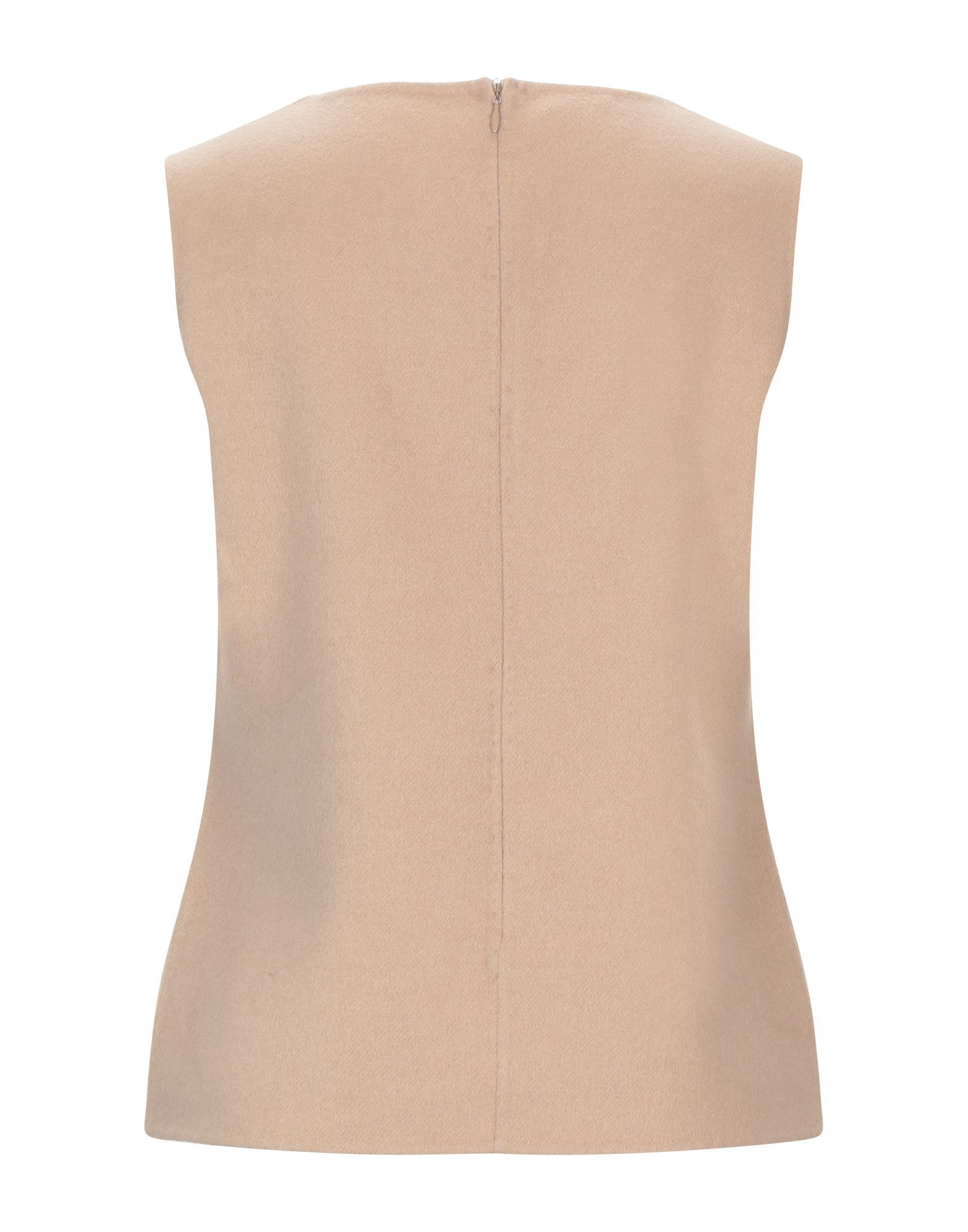 Les Copains Camel Wool Sleeveless Tank