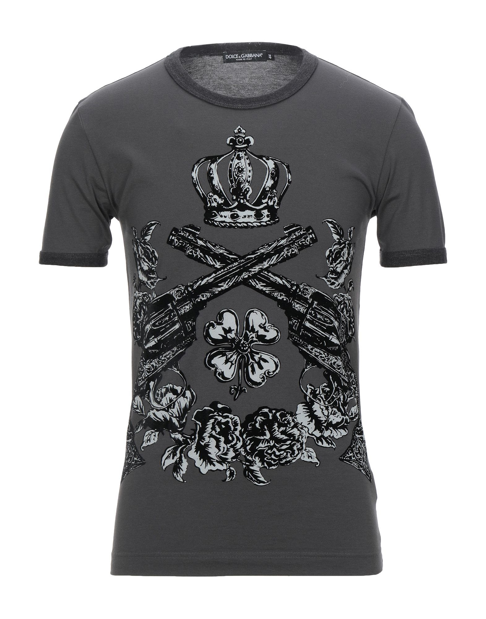 Dolce & Gabbana Lead Print Cotton T-Shirt