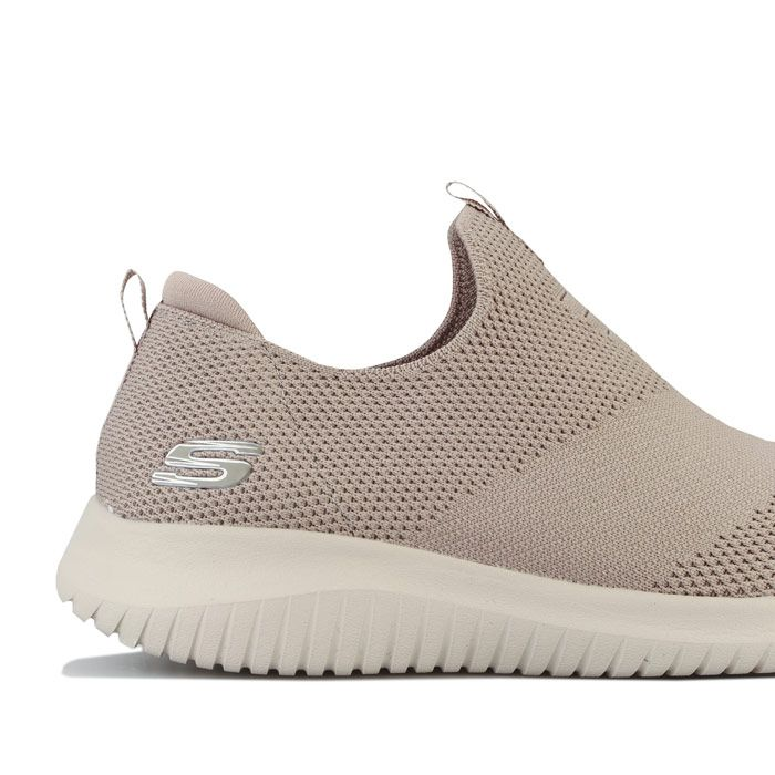 Women's Skechers Ultra Flex First Take Trainers in Taupe