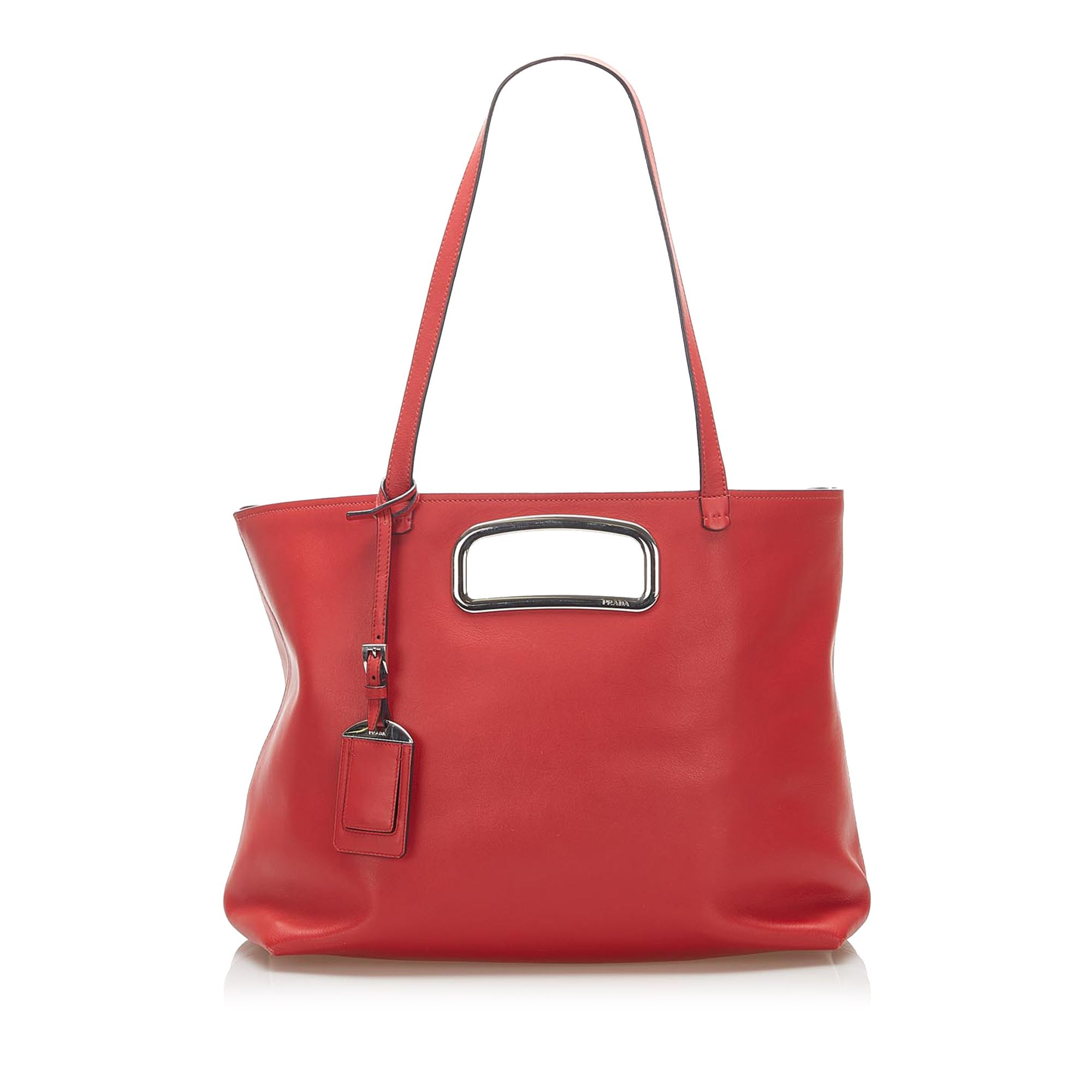 Vintage Prada Leather Satchel Red