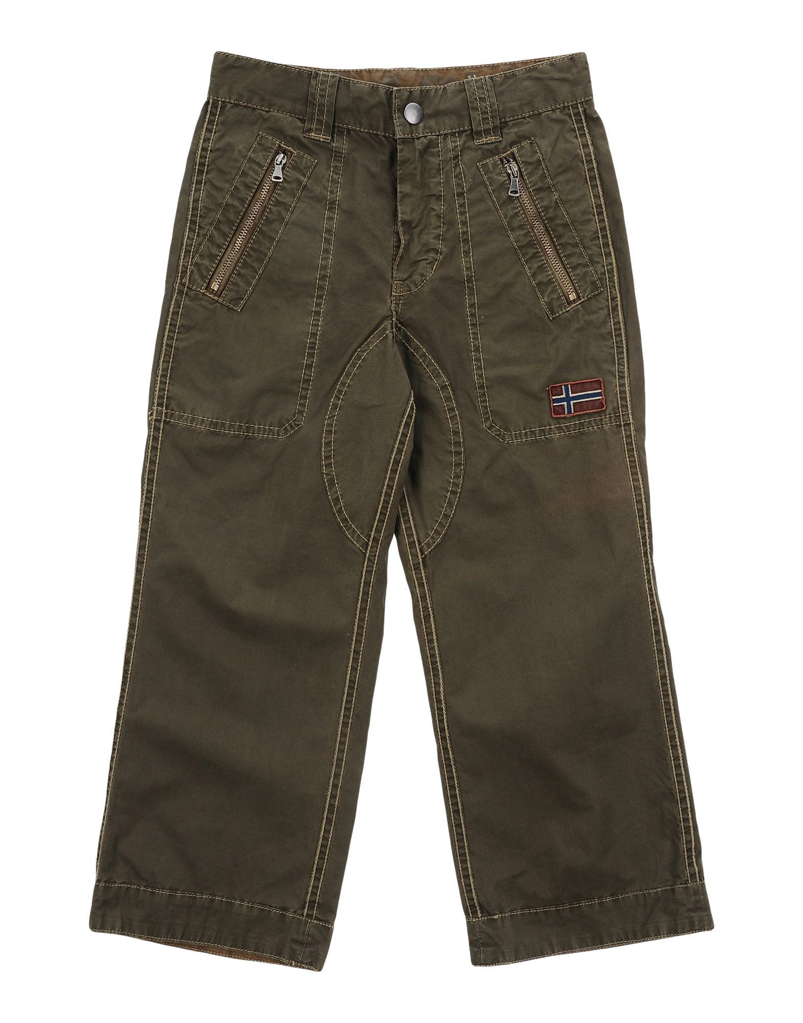 TROUSERS Napapijri Military green Boy Cotton