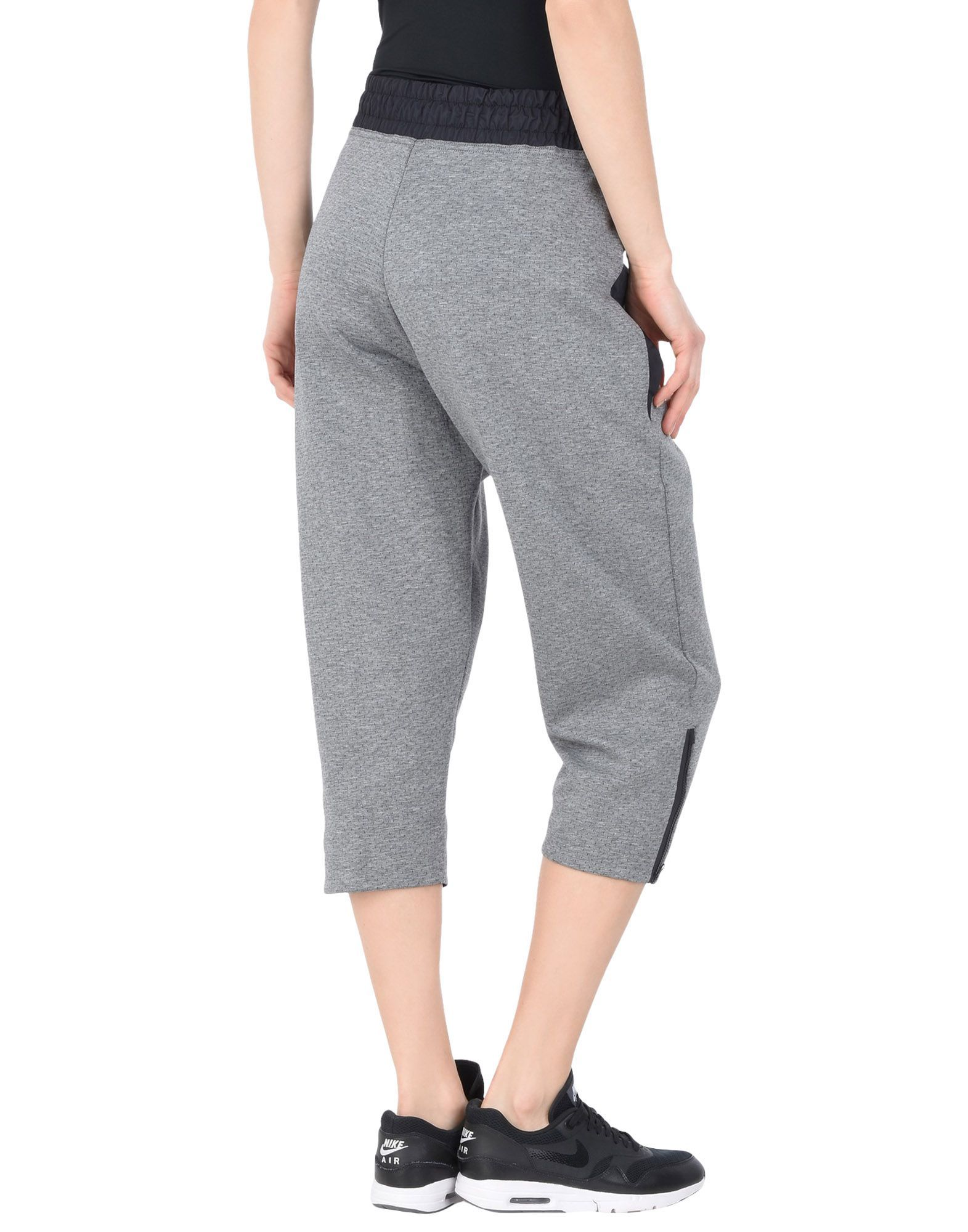 Nike Grey Cotton 3/4-Length Trousers