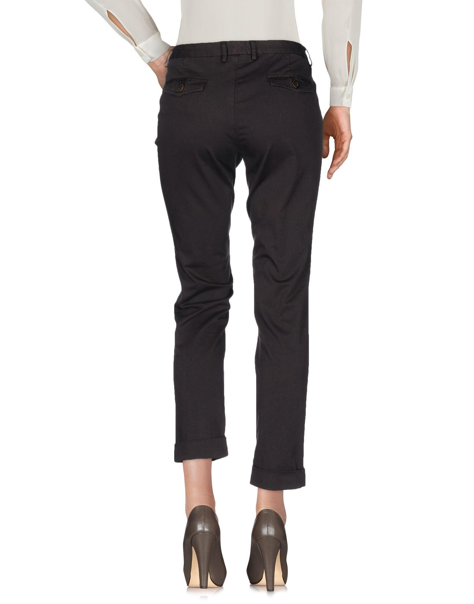 Maliparmi Dark Brown Cotton Tapered Leg Chino Trousers