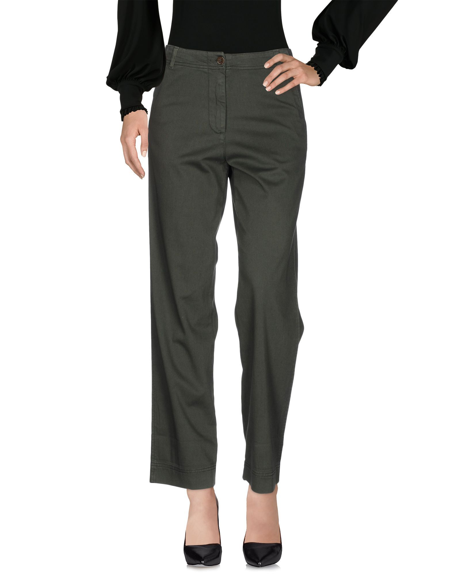 Pinko Dark Green Cotton Trousers