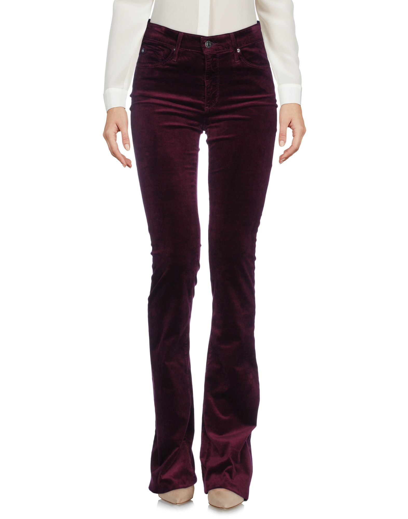 Ag Jeans Deep Purple Velvet Trousers