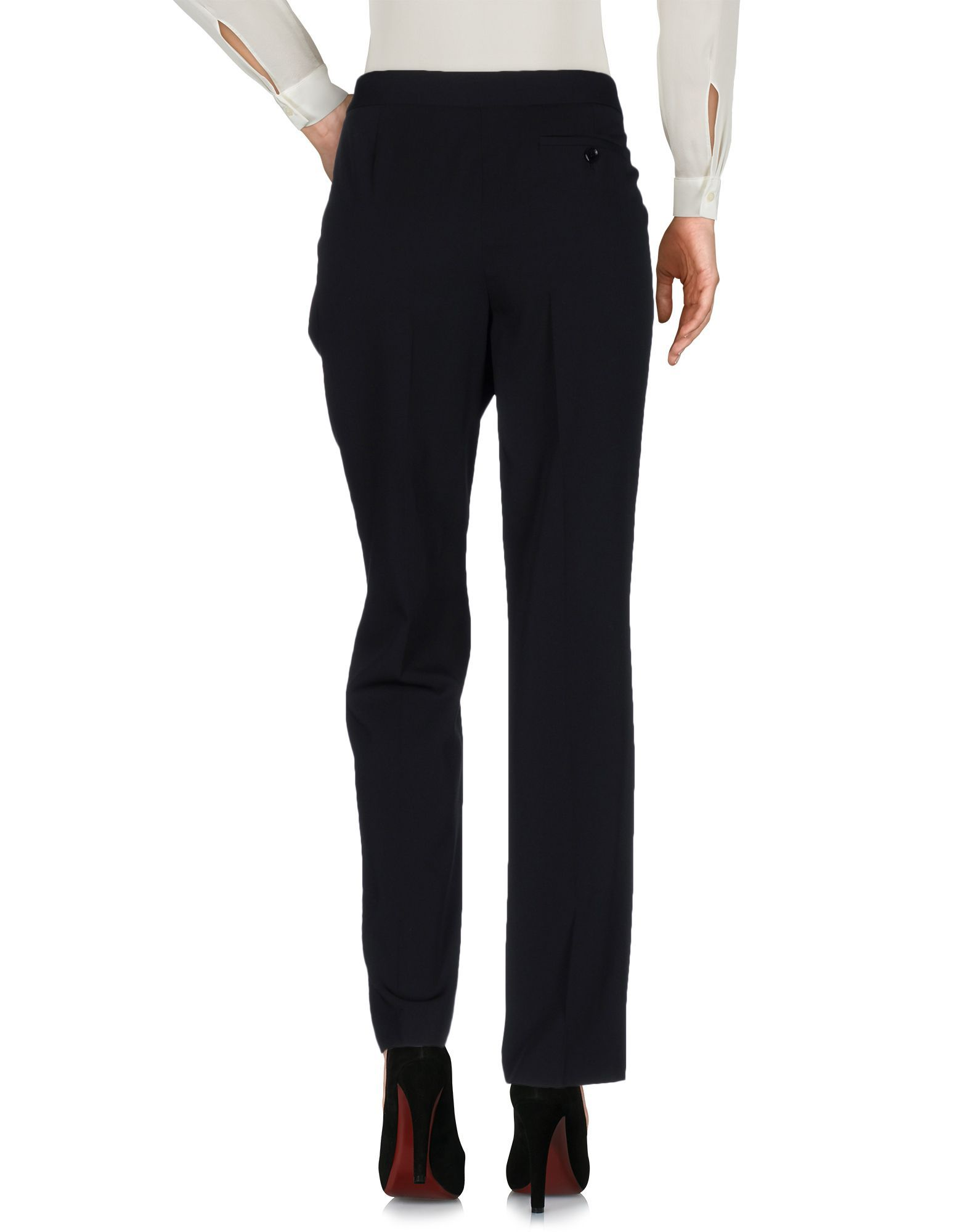 Moschino Cheap And Chic Black Wool Tailored Trousers