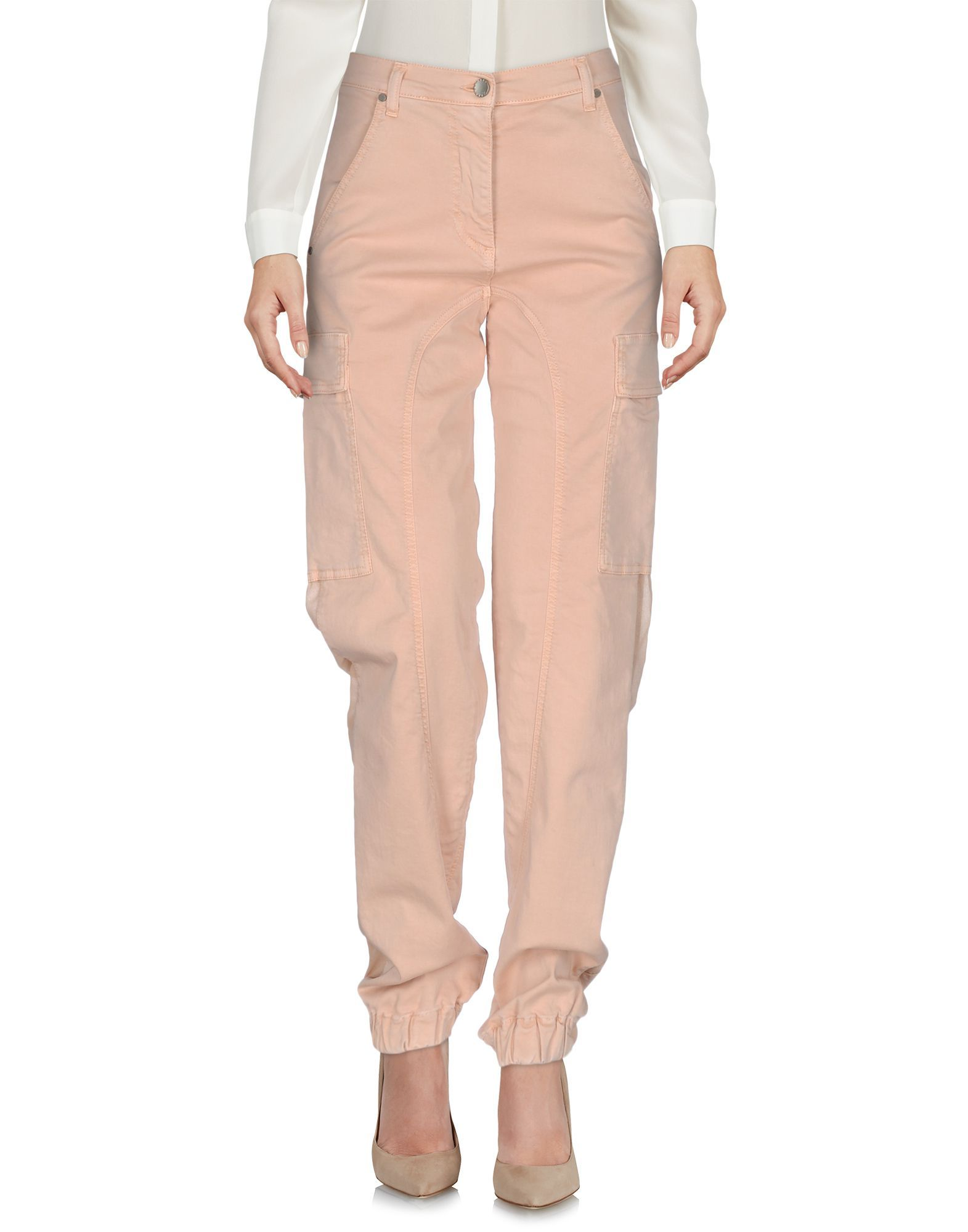 TROUSERS Twinset Pale pink Woman Cotton