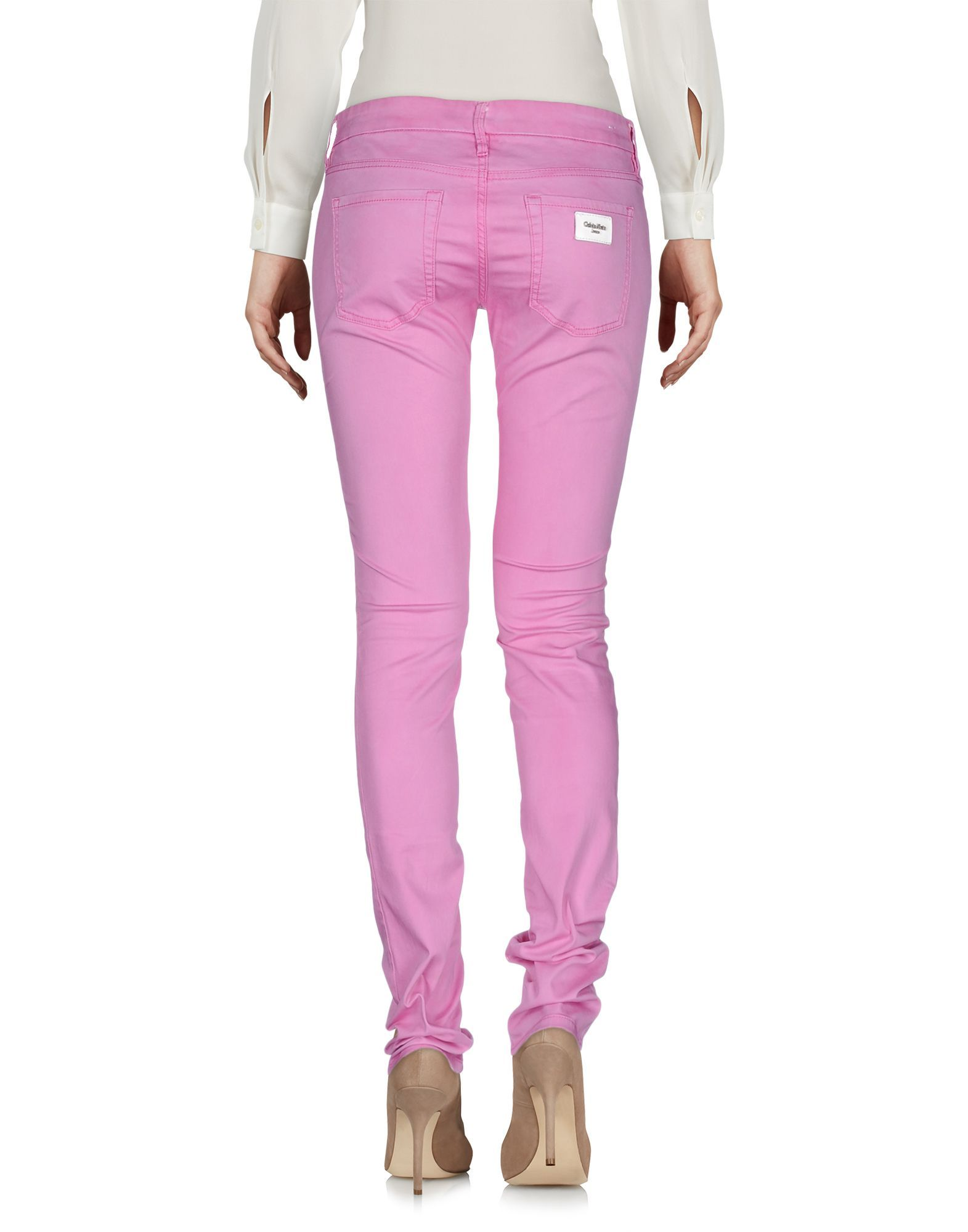 Calvin Klein Jeans Pink Cotton Slim Trousers
