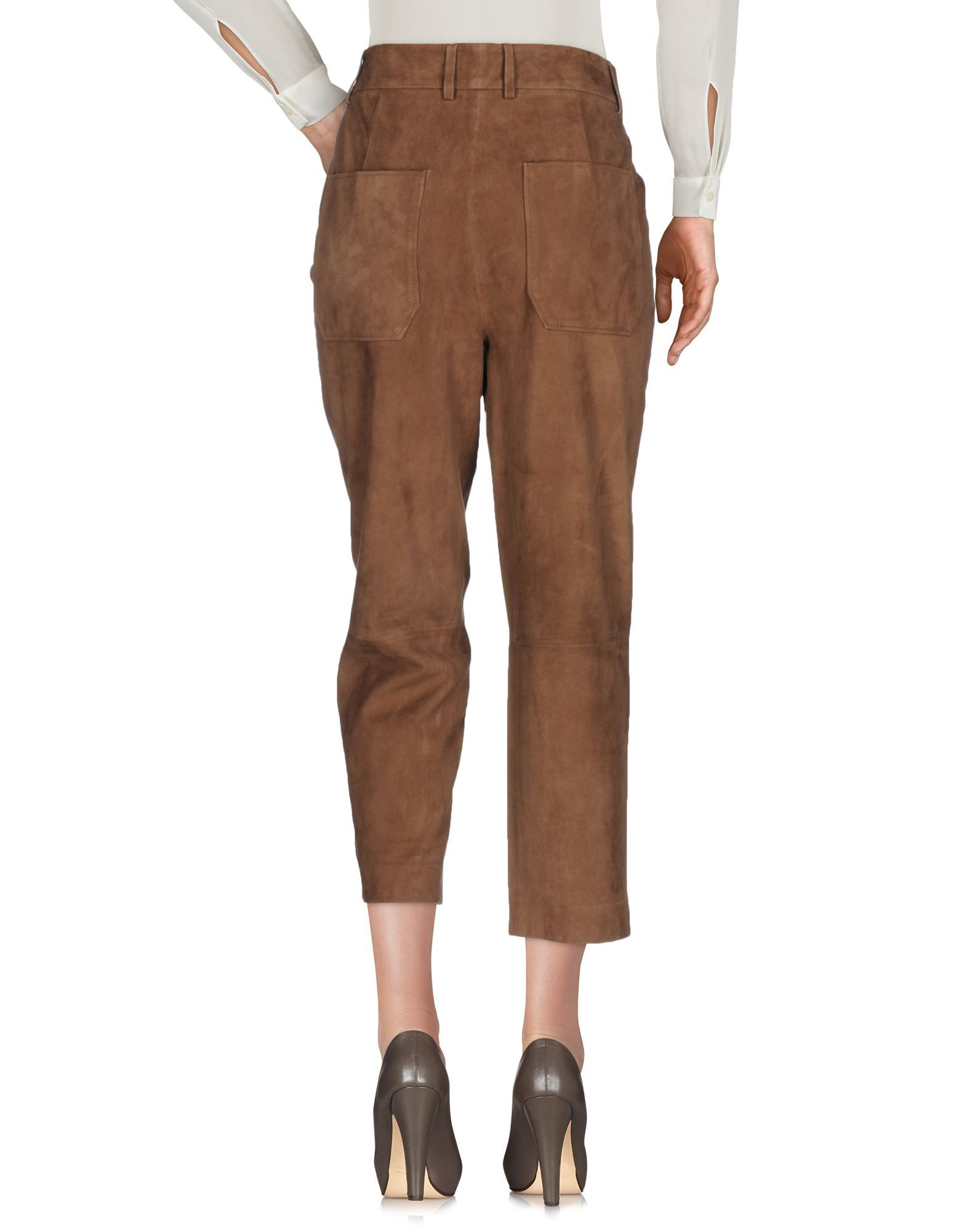 Trousers True Royal Brown Women's Leather