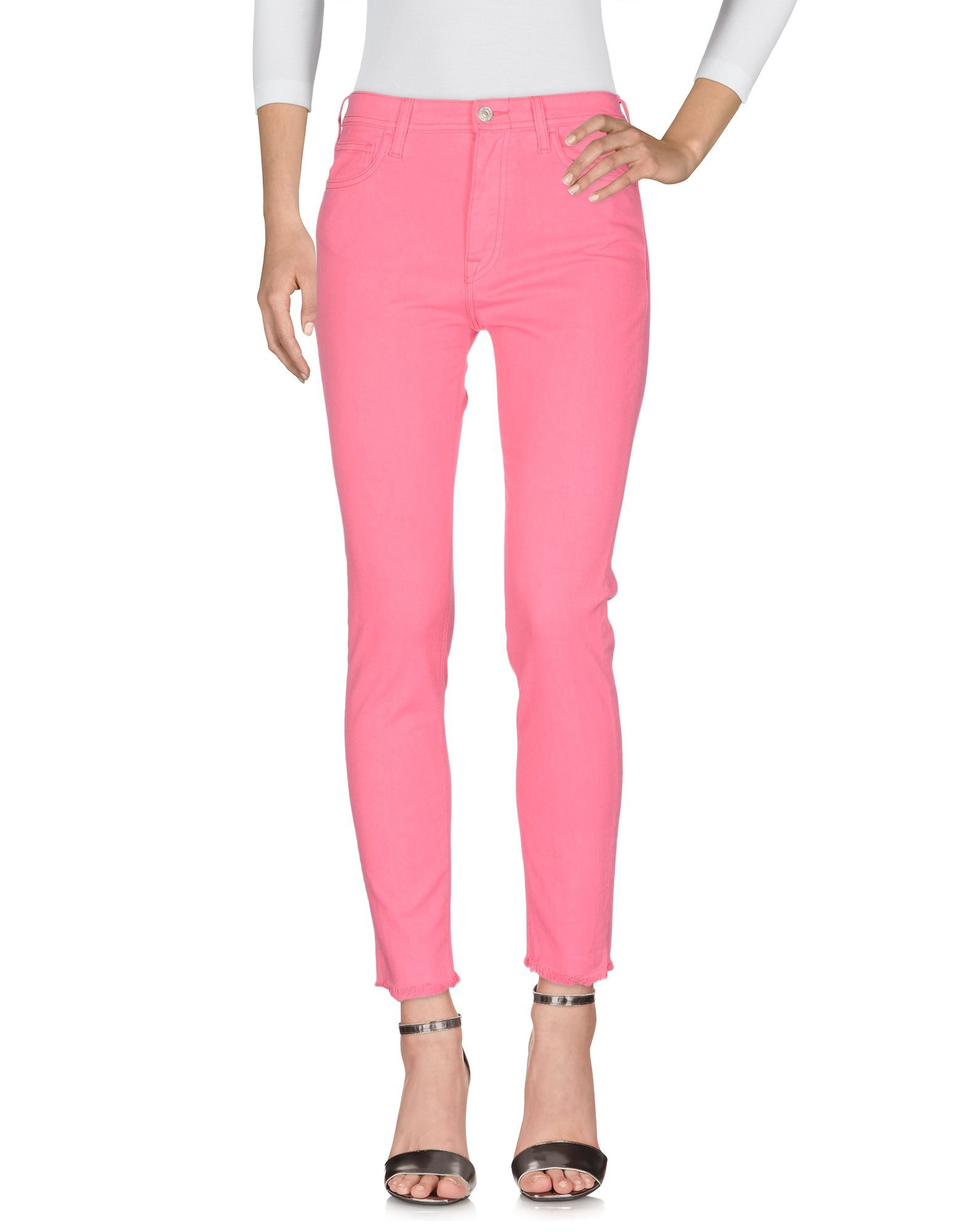 Cycle Pink Cotton Slim Fit Jeans
