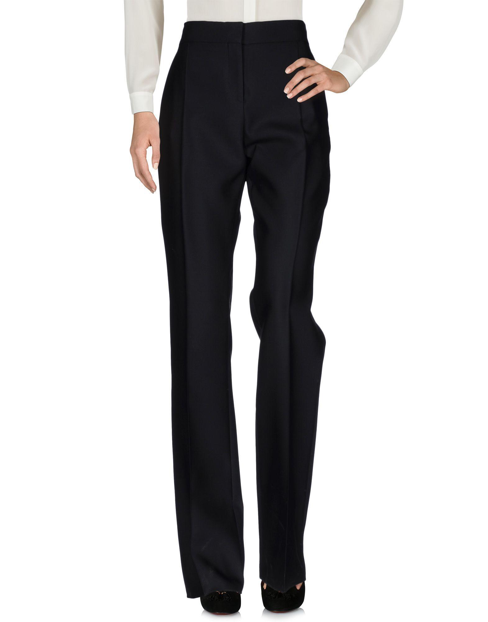 Valentino Black Virgin Wool Casual Trousers