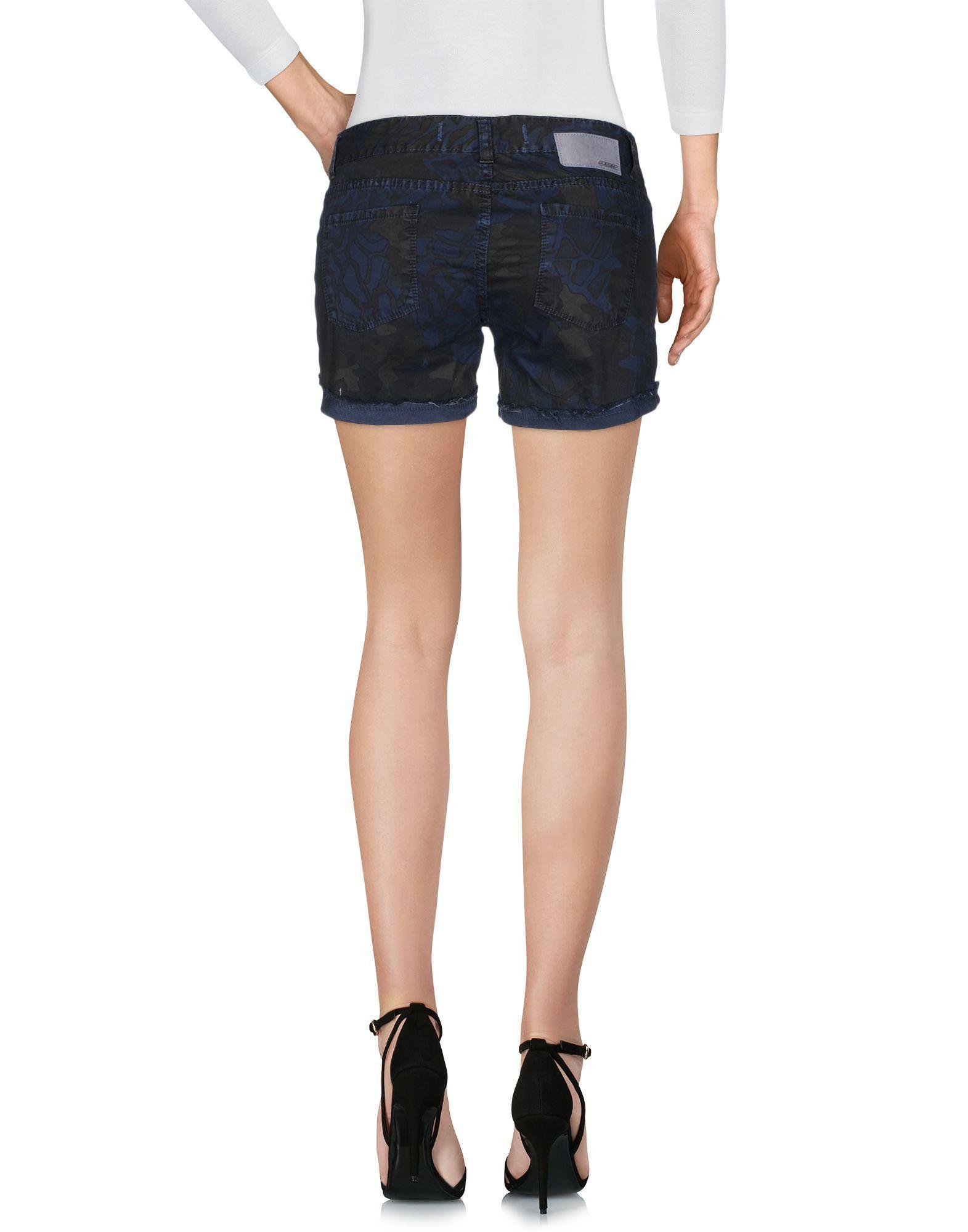Rrd Dark Blue Cotton Shorts