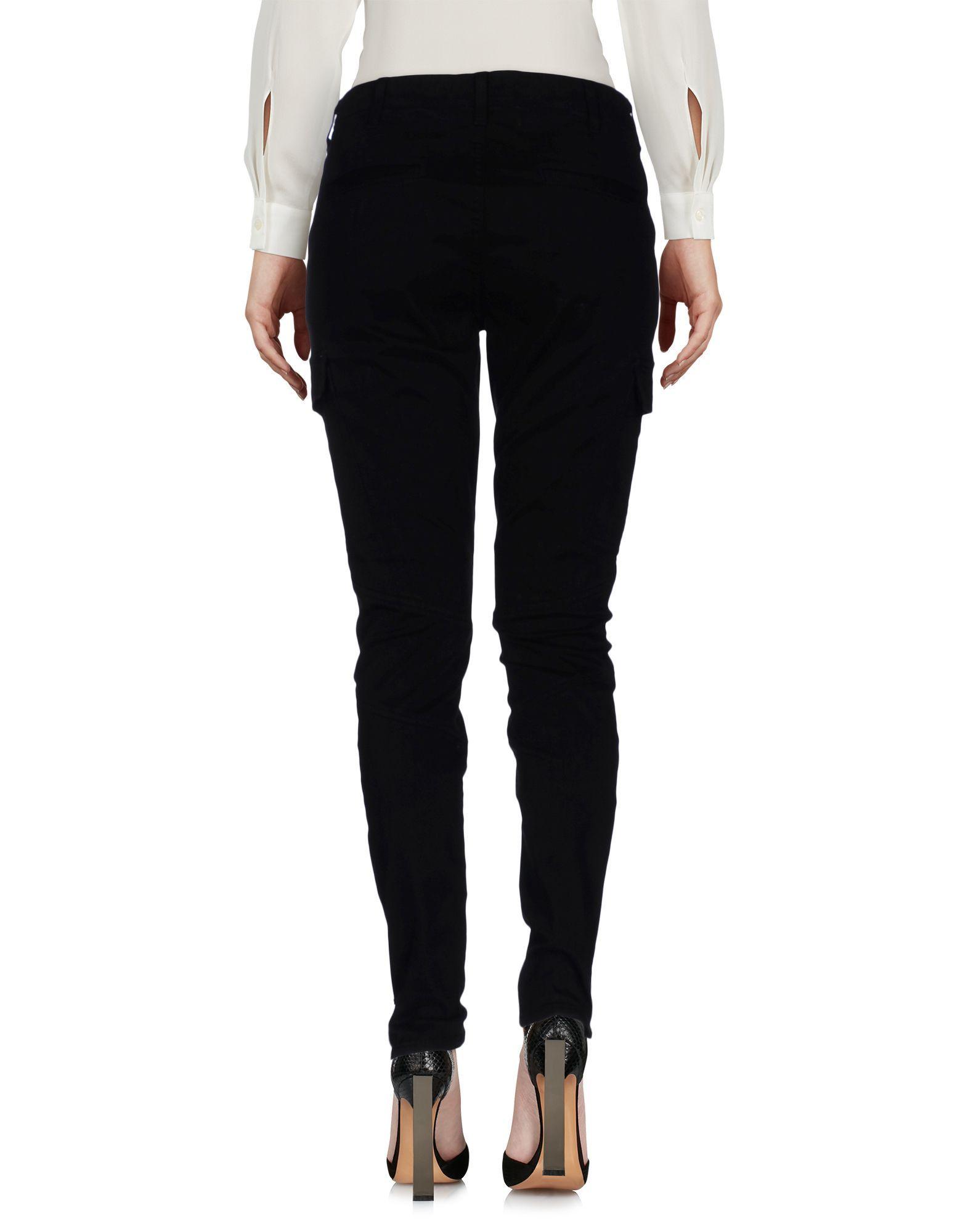 J Brand Black Cotton Tapered Leg Trousers