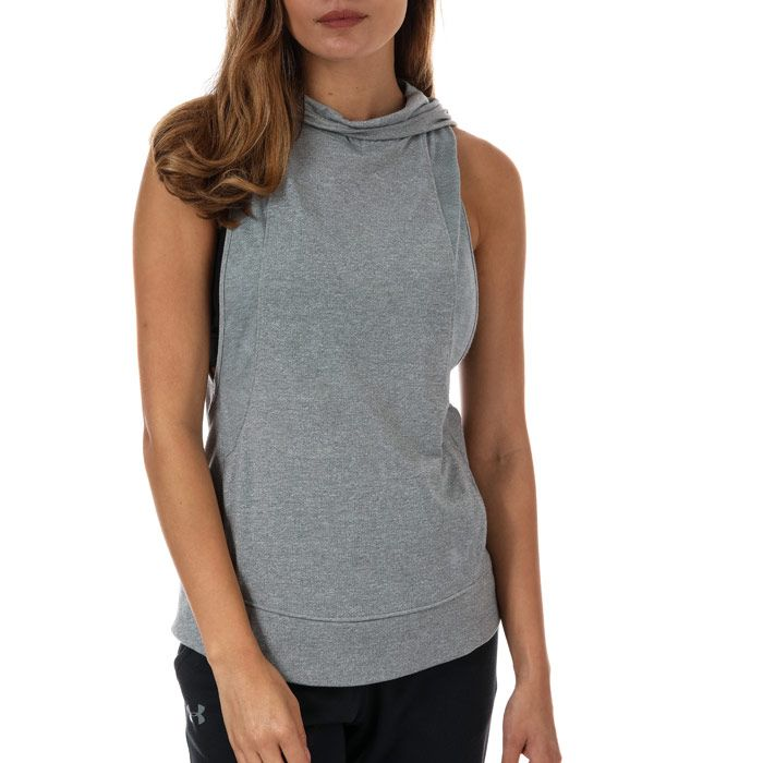 Women's Under Armour Swyft Sleeveless Running Hoody in Grey Marl