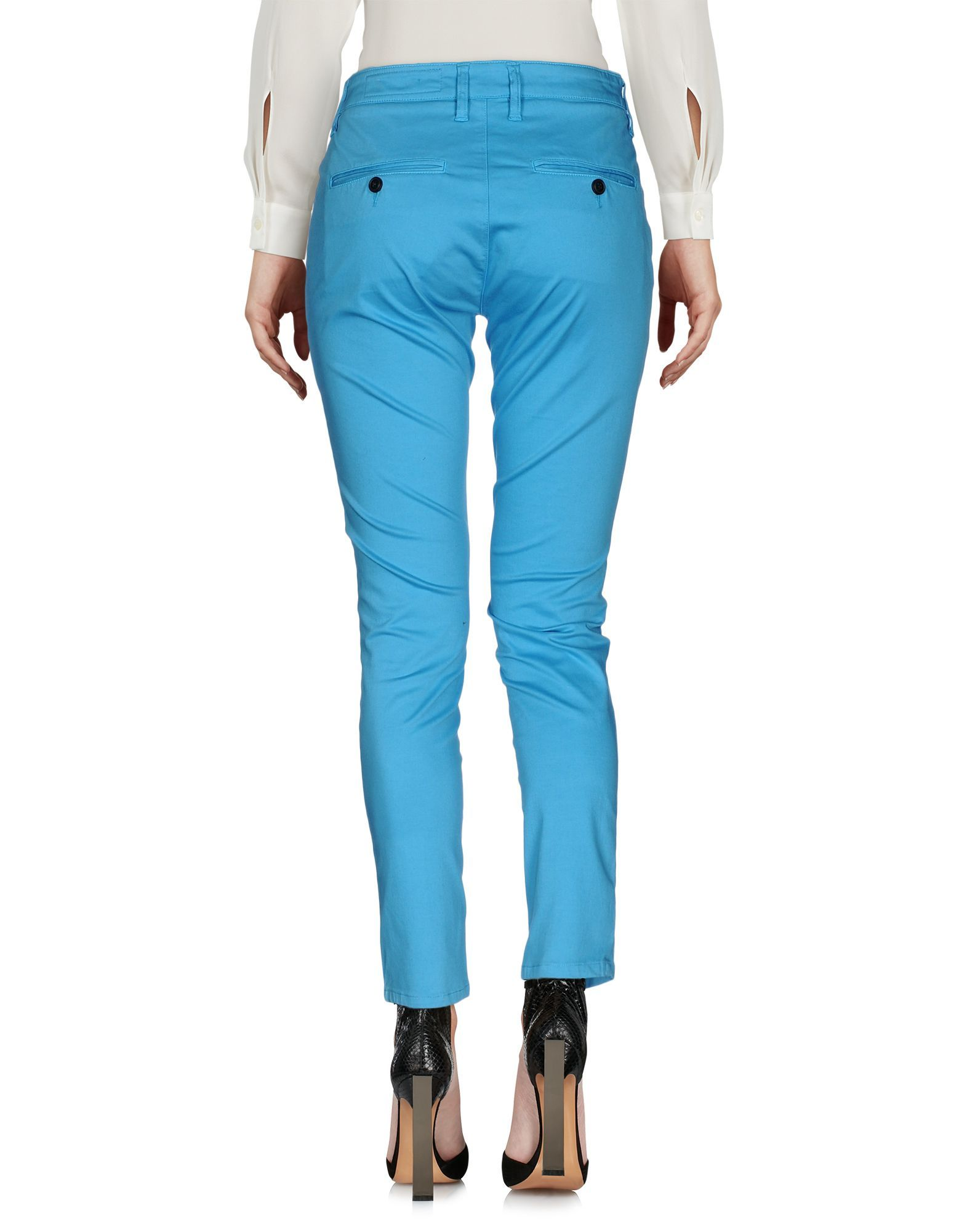 TROUSERS Woman Department 5 Turquoise Cotton