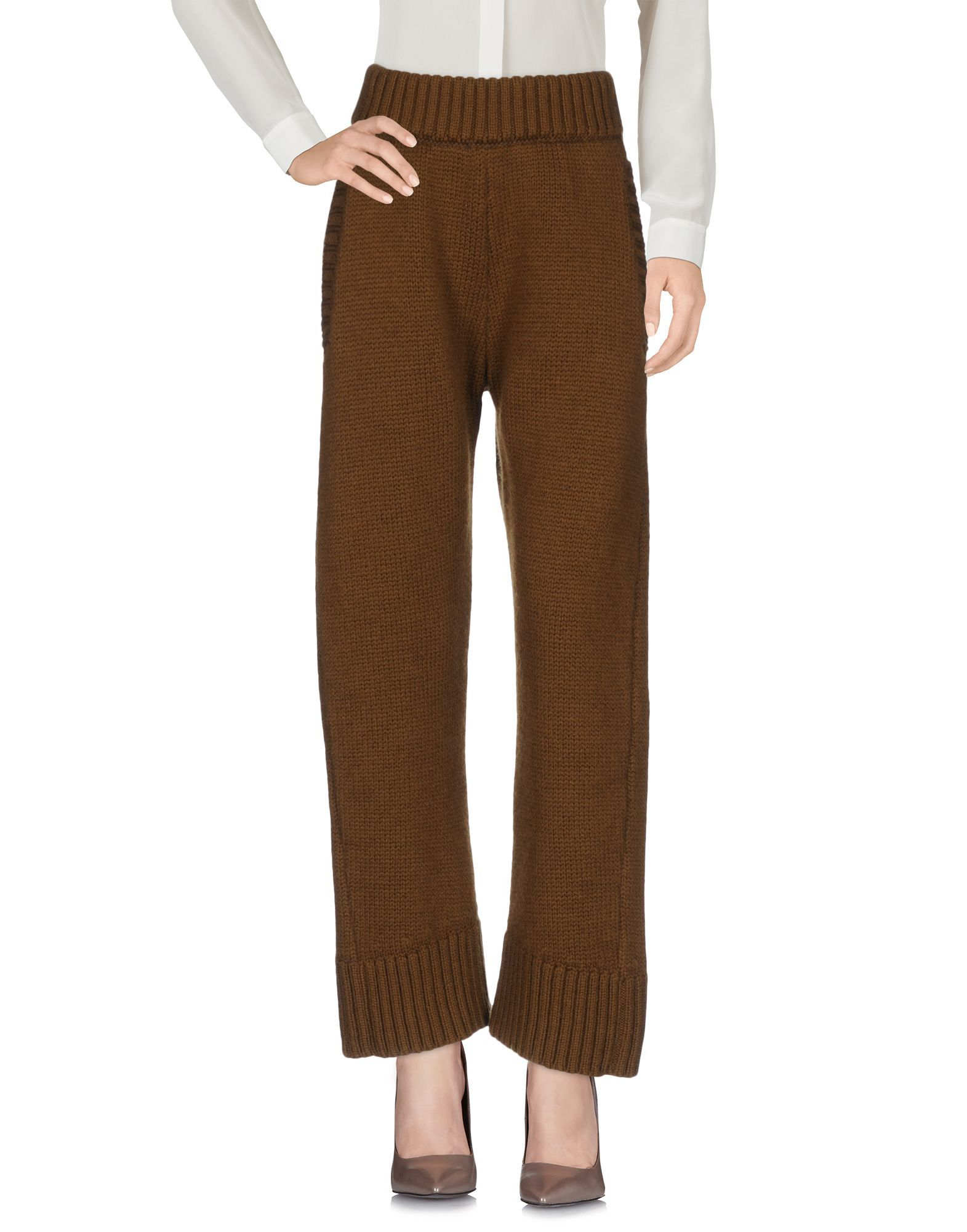 TROUSERS Dsquared2 Camel Woman Wool