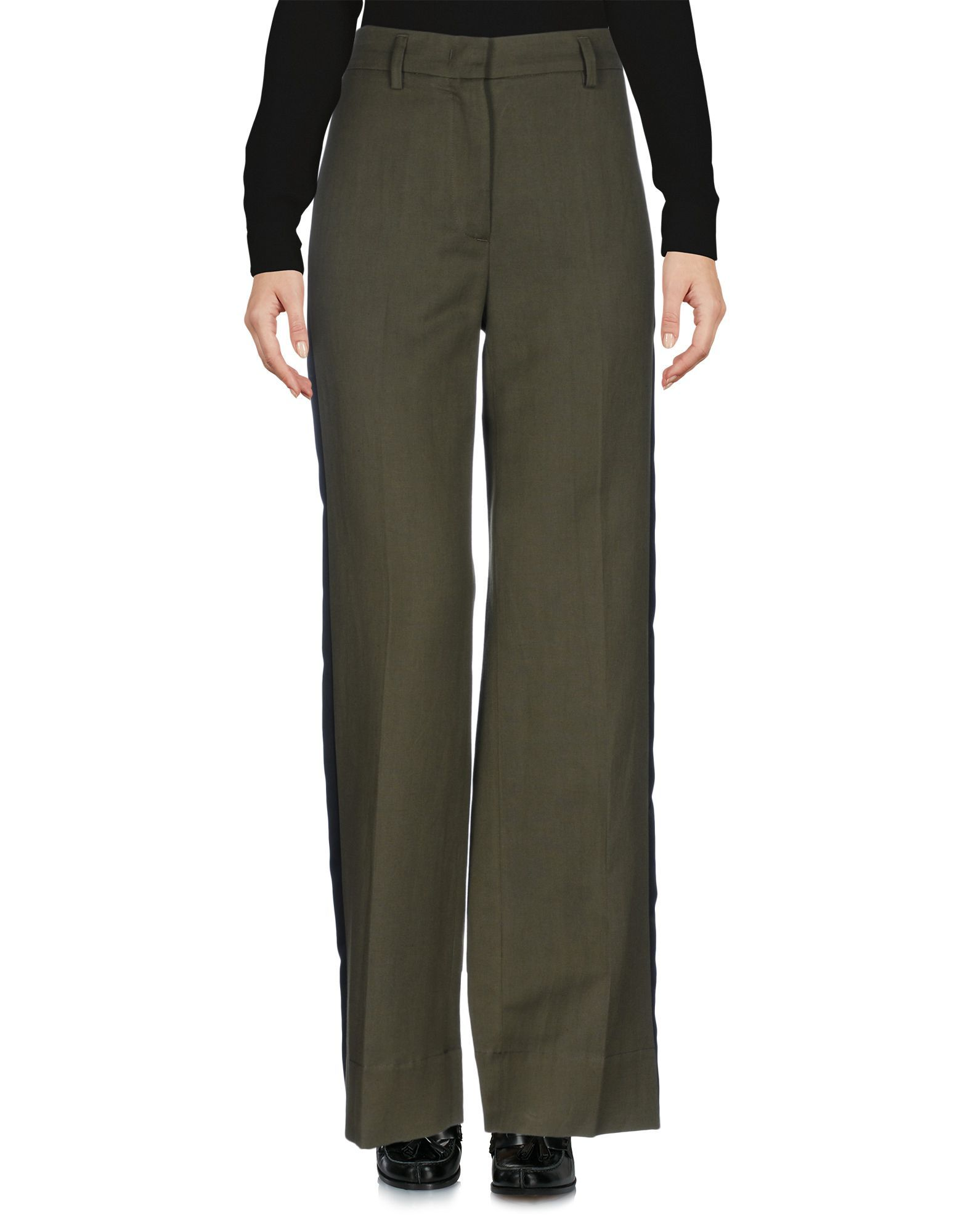 TROUSERS Tela Military green Woman Polyester