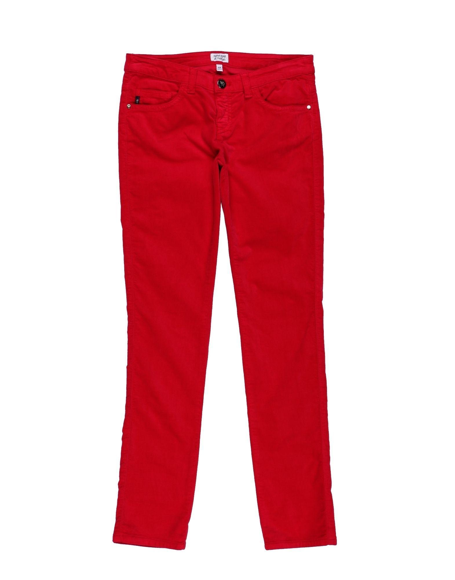 TROUSERS Armani Junior Red Girl Cotton