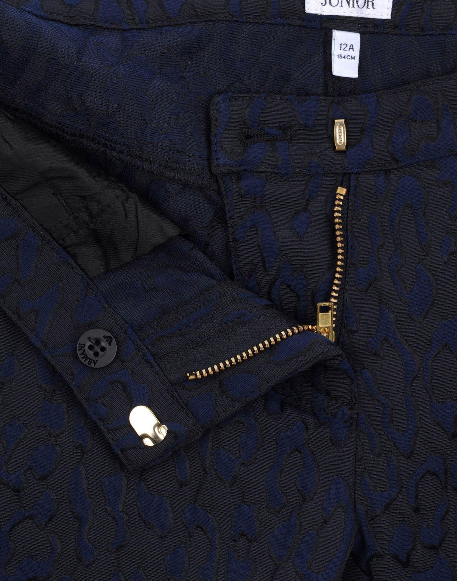 TROUSERS Armani Junior Dark blue Girl Polyester
