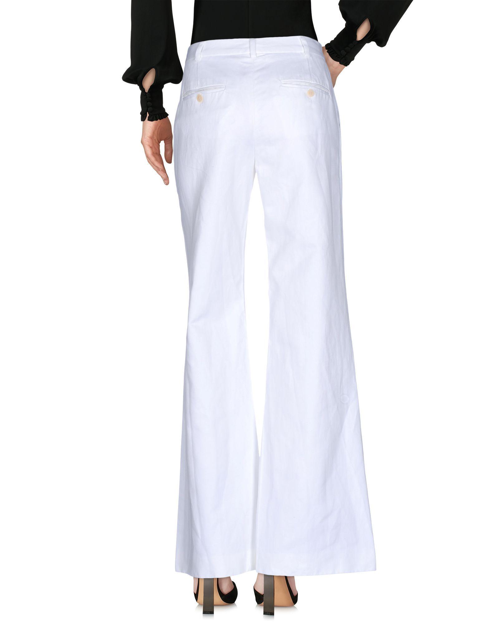 Boule De Neige White Cotton Wide Leg Trousers