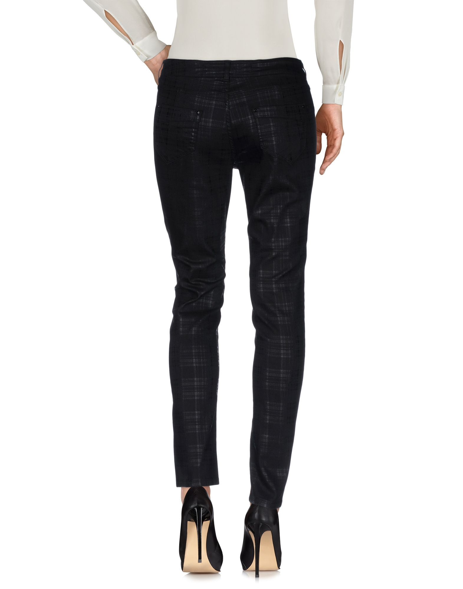 Karen Millen Black Cotton Tapered Leg Trousers