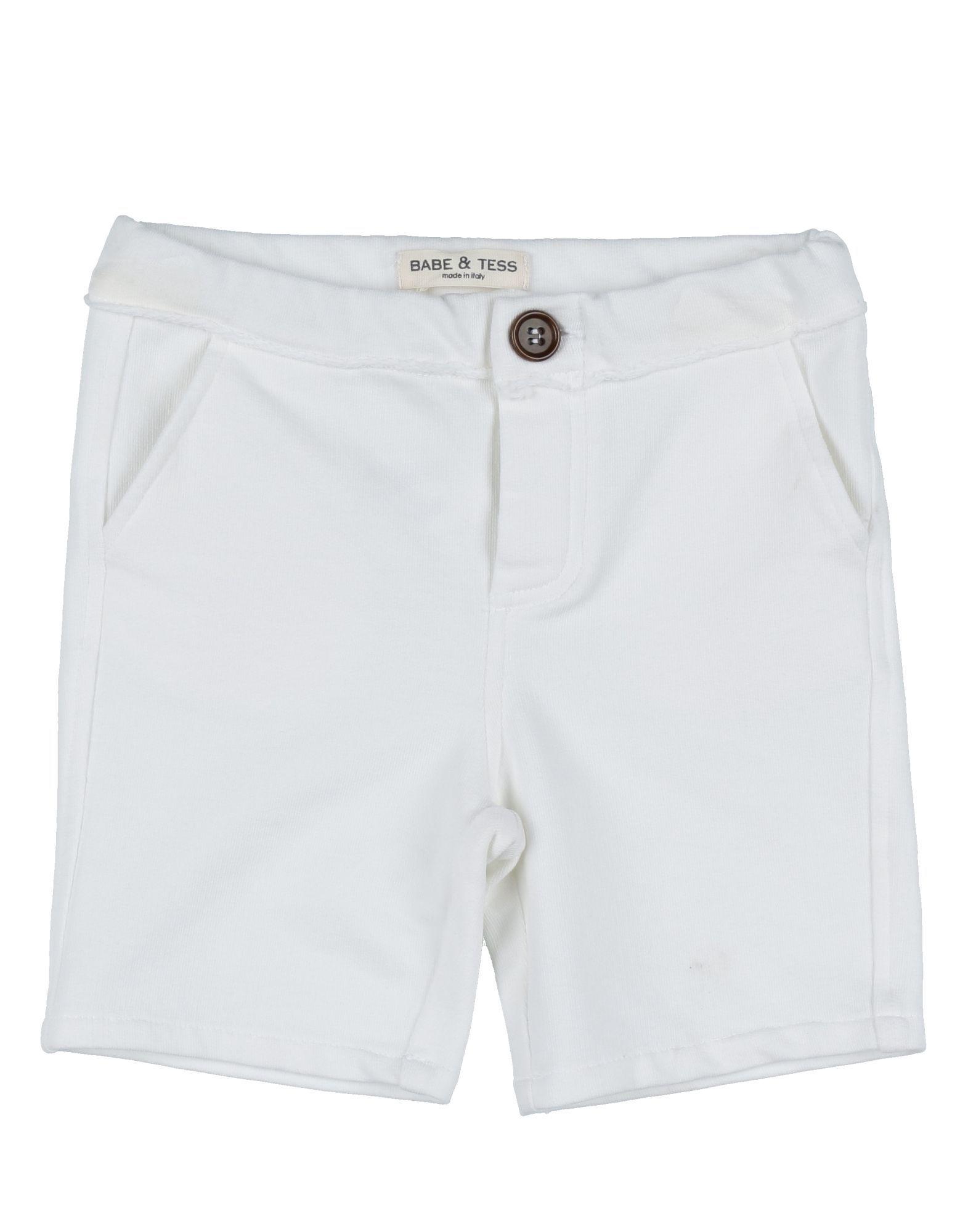 Babe & Tess White Boy Cotton Shorts