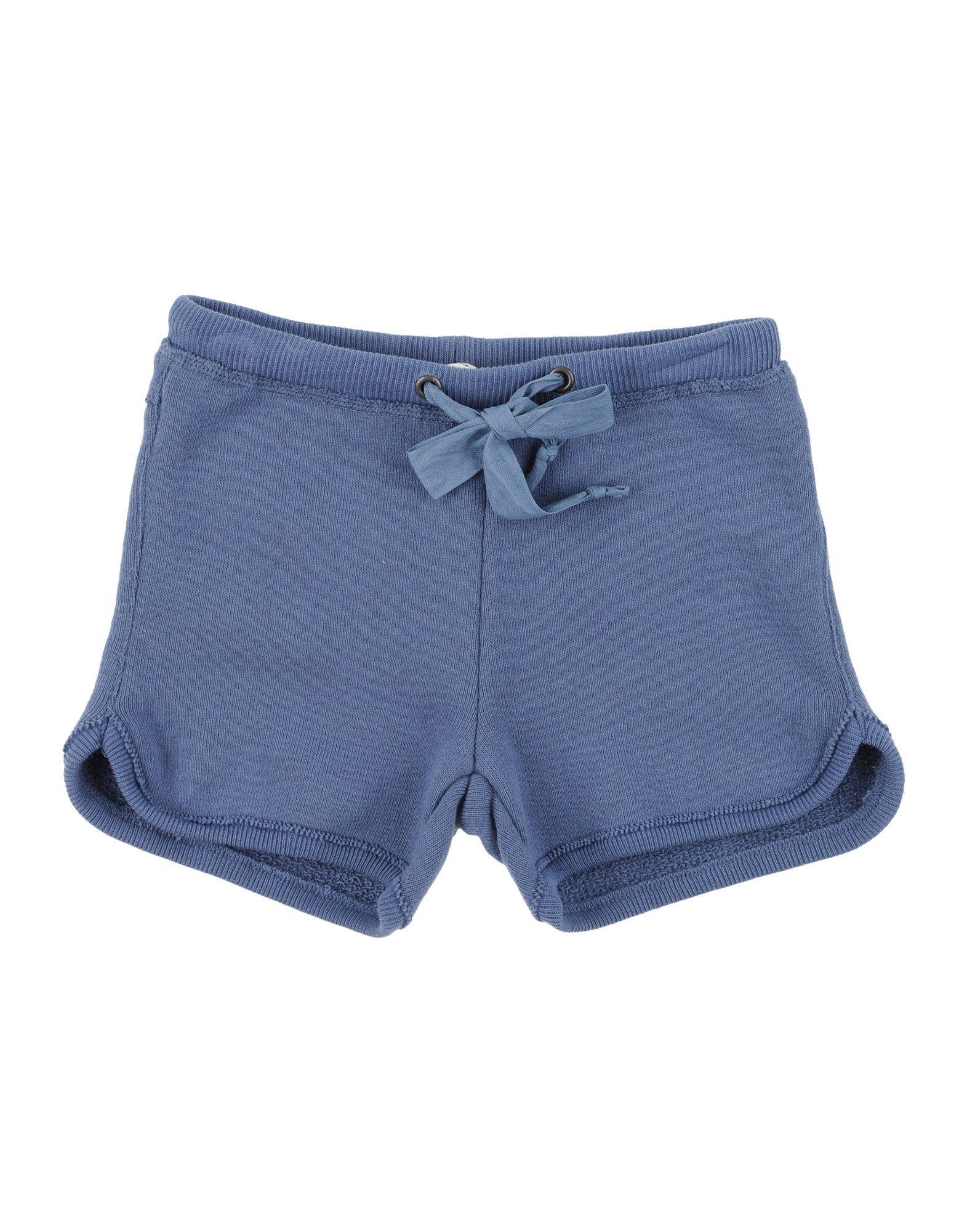 Babe & Tess Slate Blue Cotton Shorts