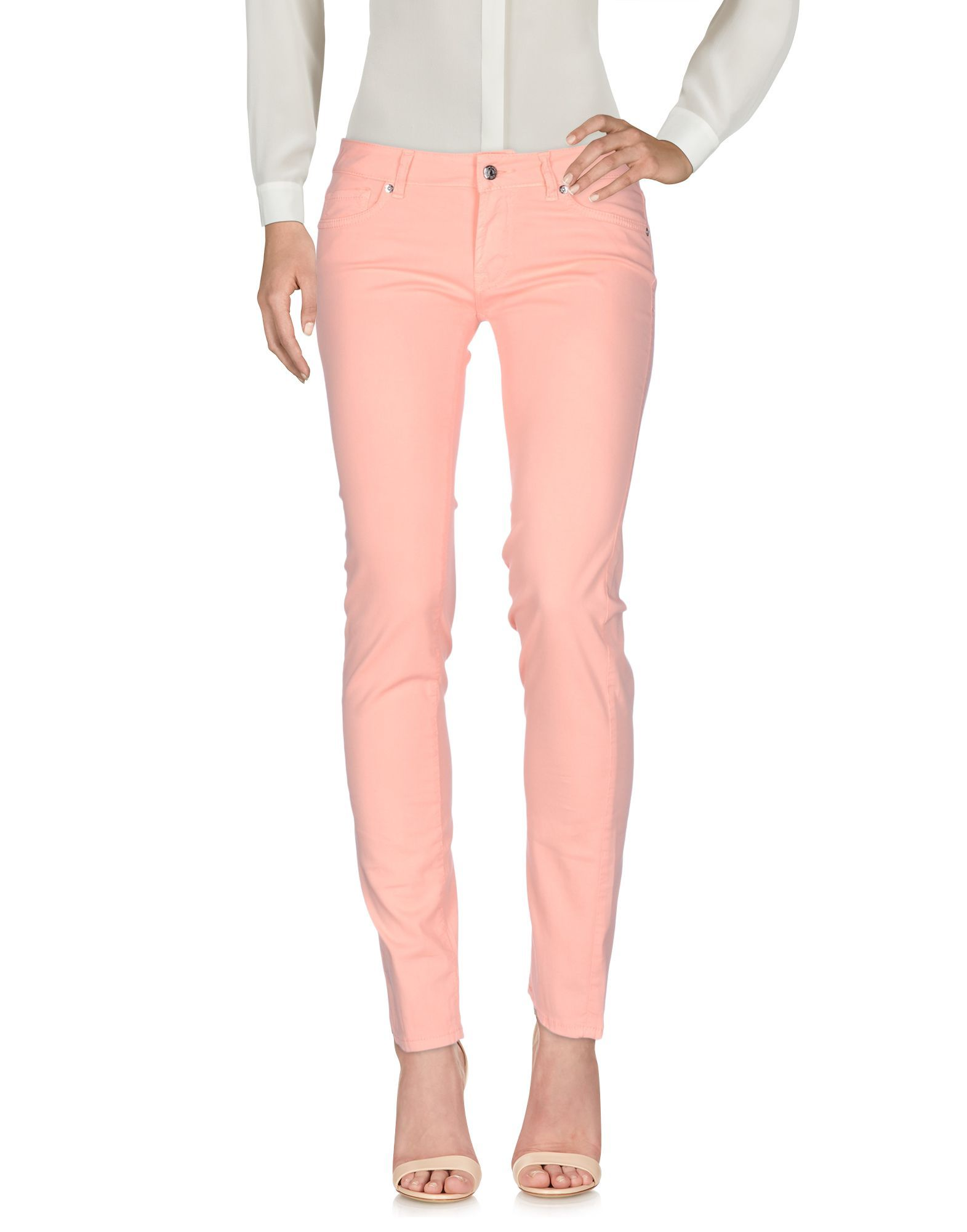 TROUSERS Ro� Roger'S Salmon pink Woman Cotton