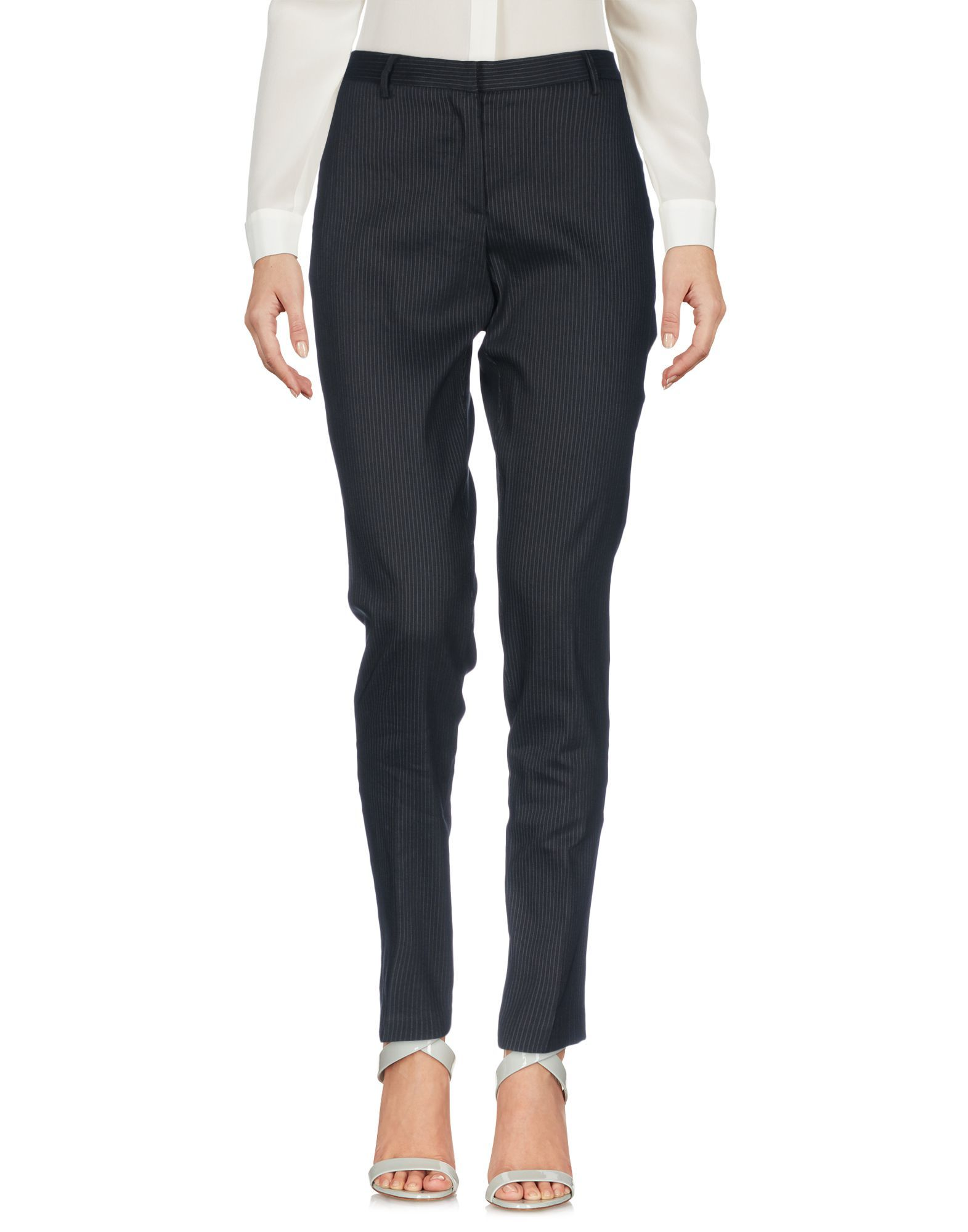 Twinset Black Linen Tapered Leg Trousers