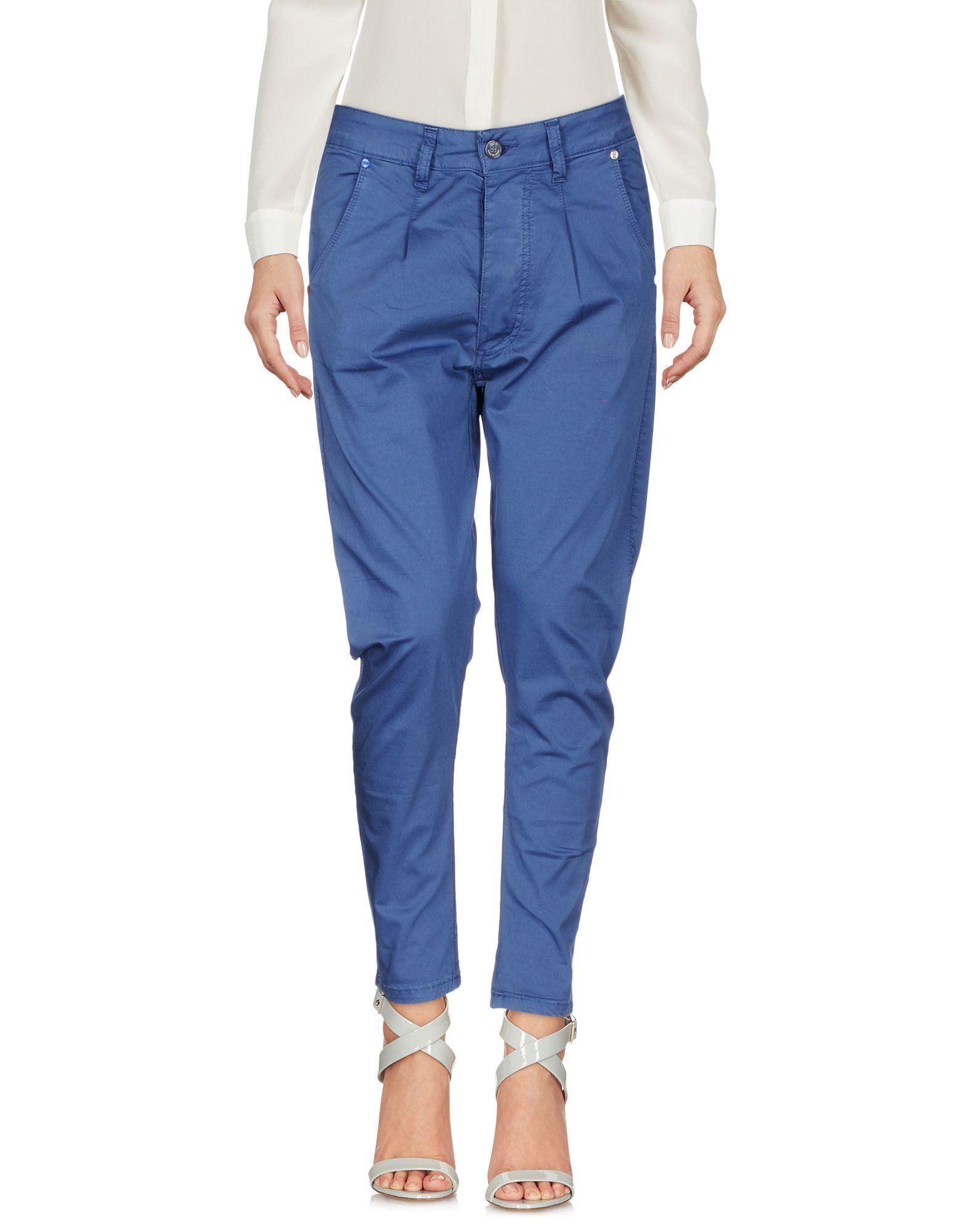 TROUSERS Eredi Del Duca Blue Woman Cotton