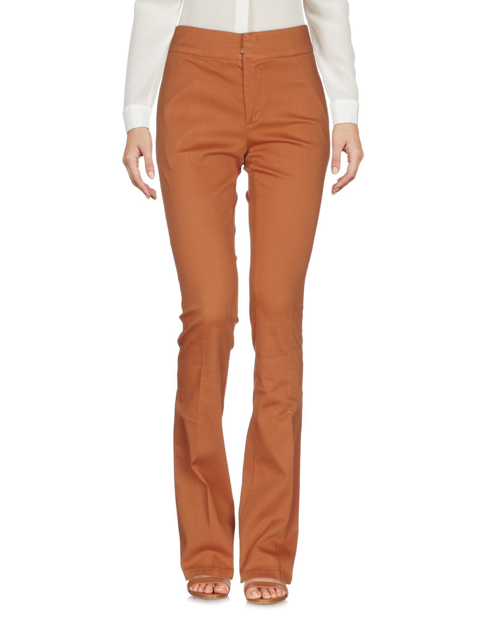 Manila Grace Brown Cotton Regular Fit Trousers