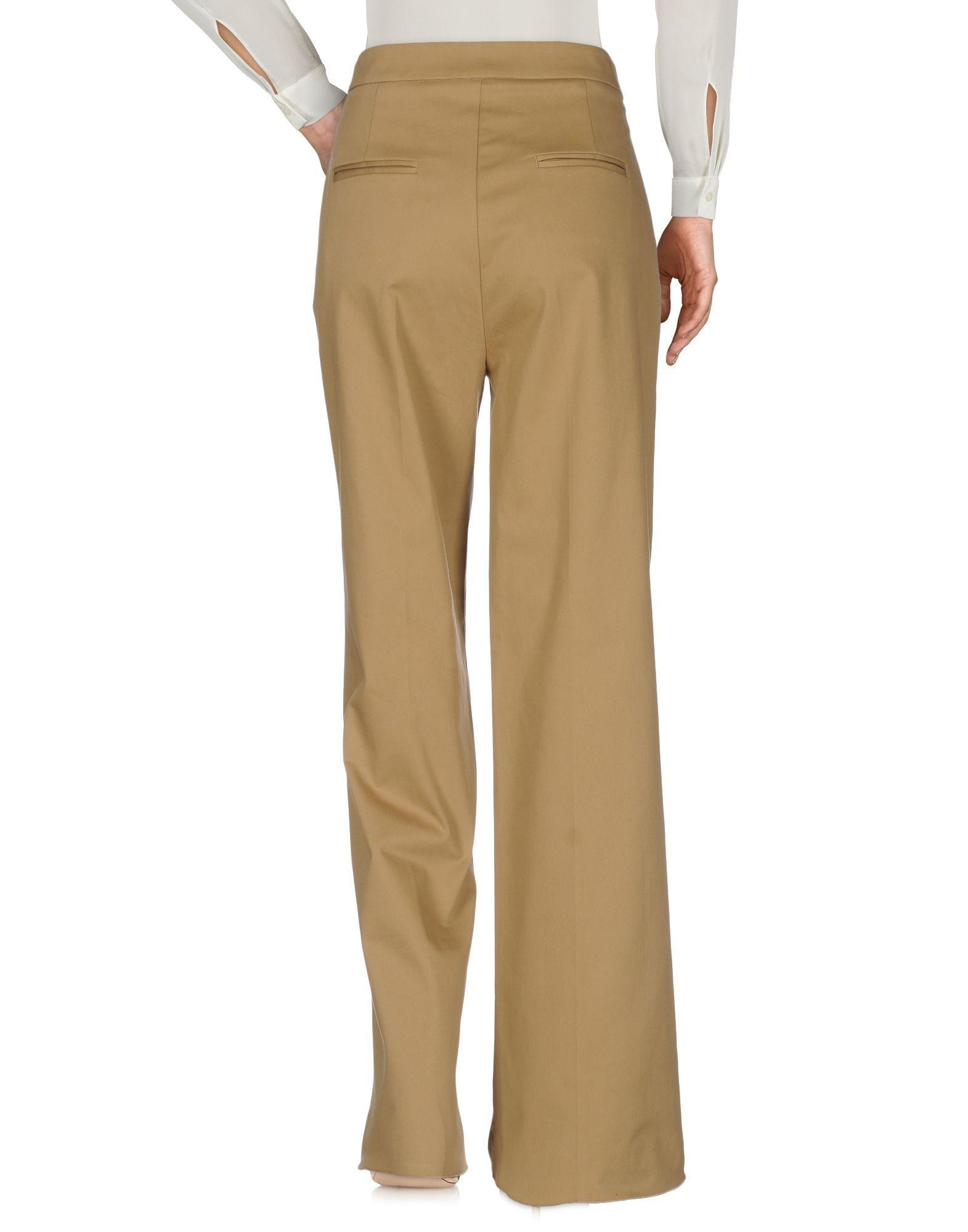 Trousers Aglini Khaki Women's Cotton
