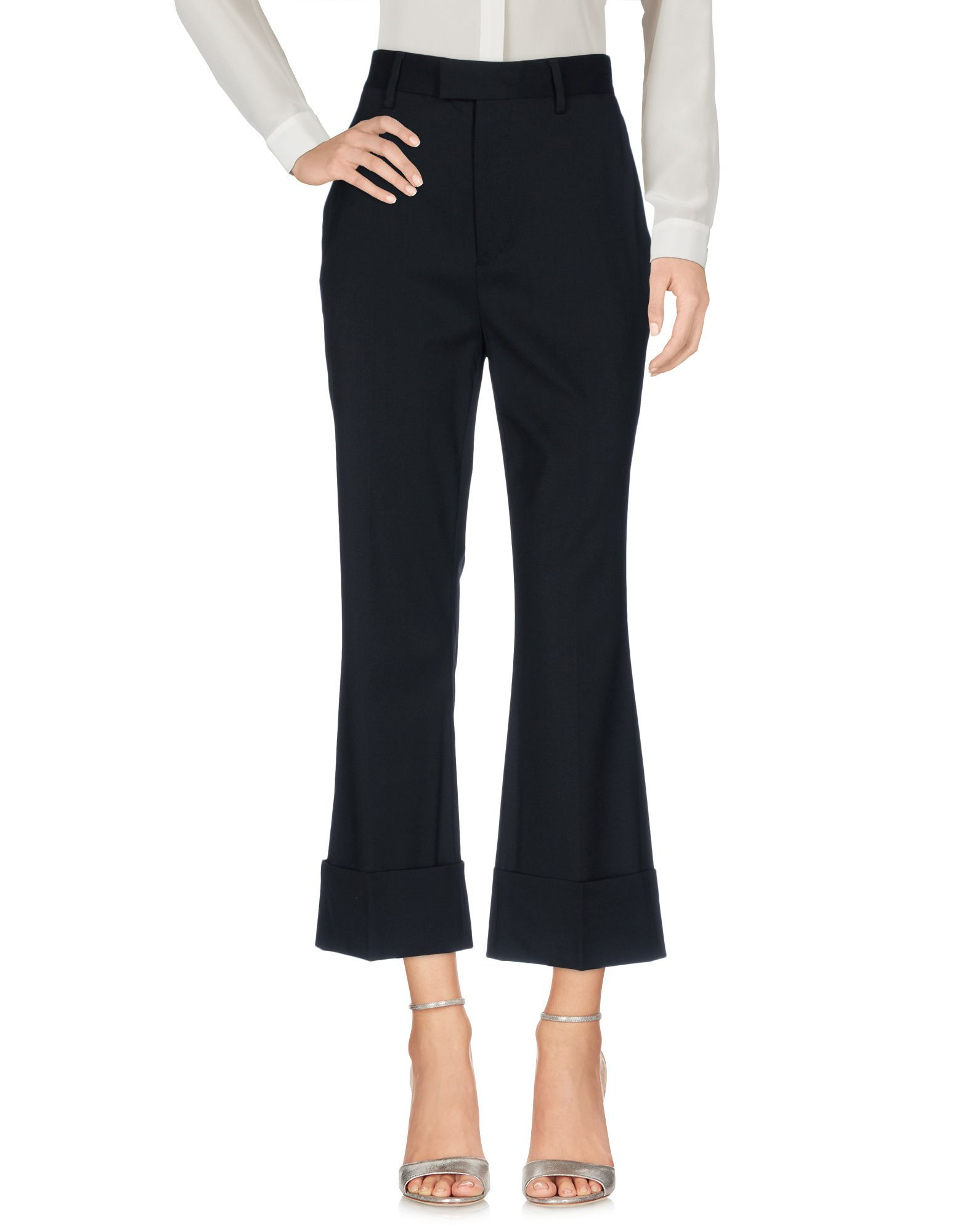 Dsquared2 Black Virgin Wool Casual Trousers