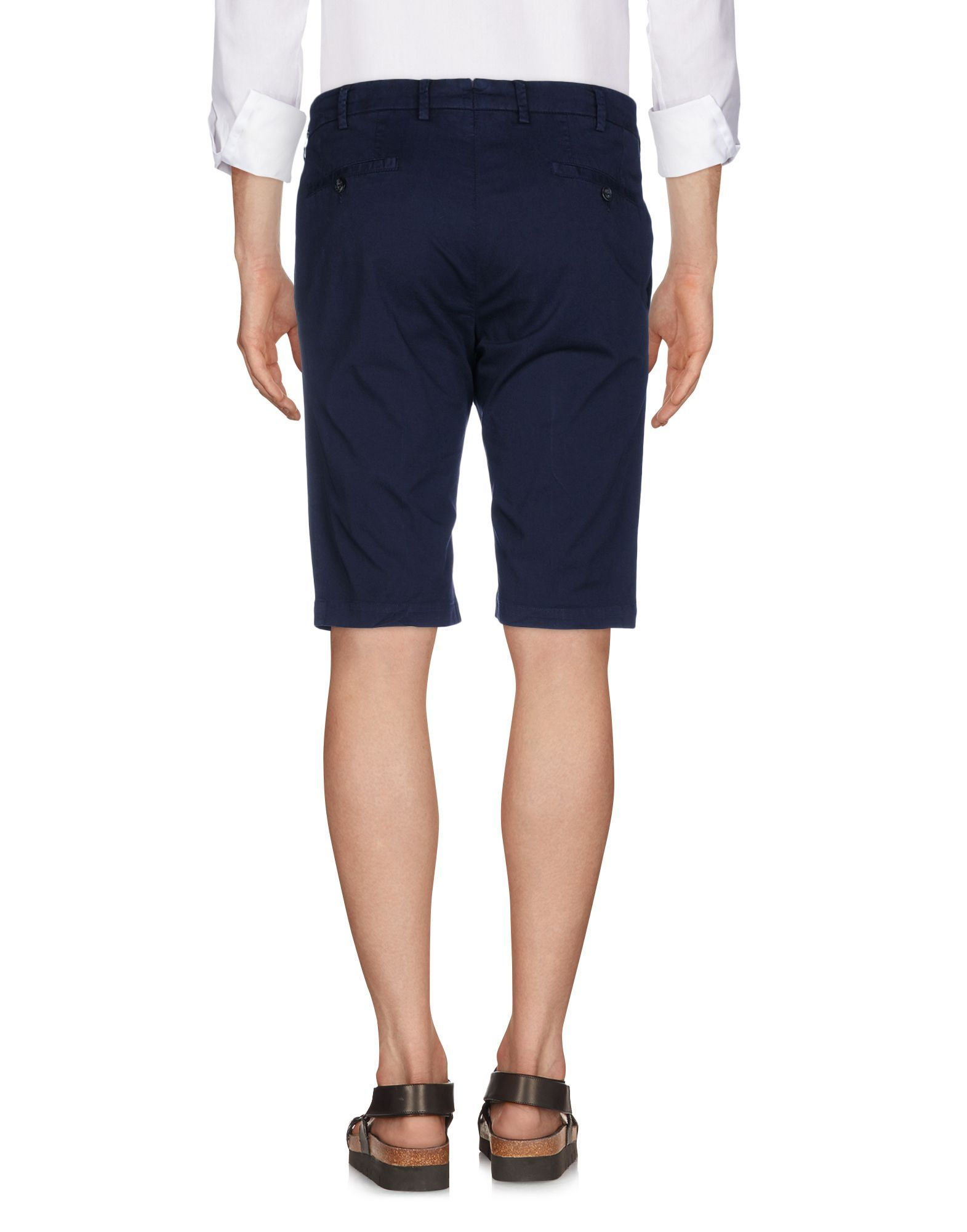 Tombolini Dark Blue Cotton Bermuda Shorts