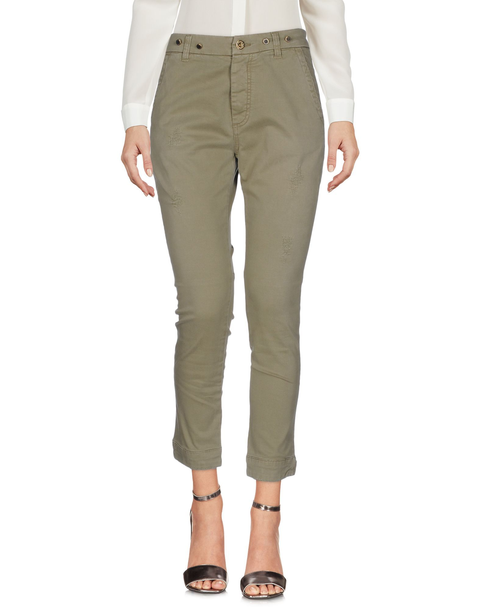 TROUSERS Atos Lombardini Military green Woman Cotton