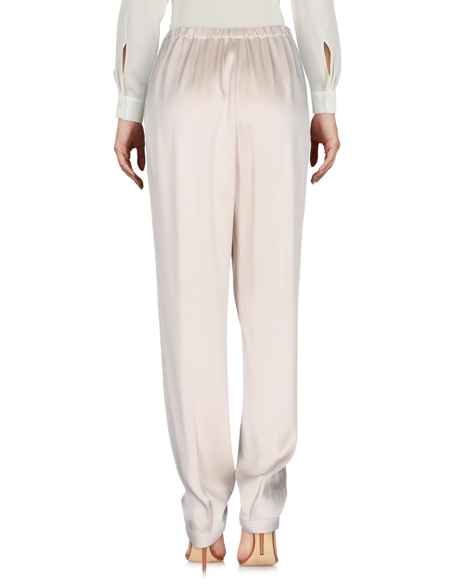 Vince. Beige Satin Tapered Leg Trousers