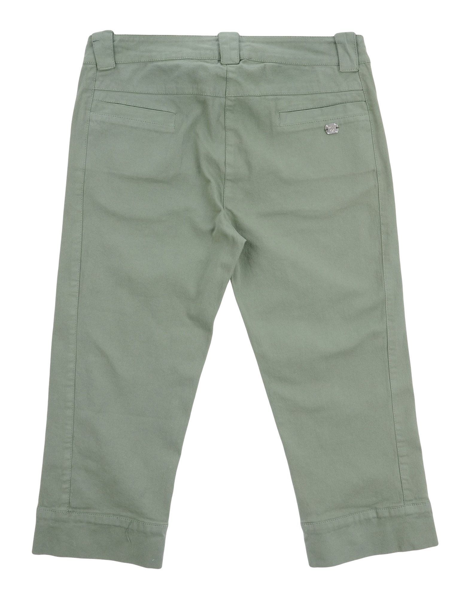TROUSERS Miss Blumarine Military green Girl Cotton
