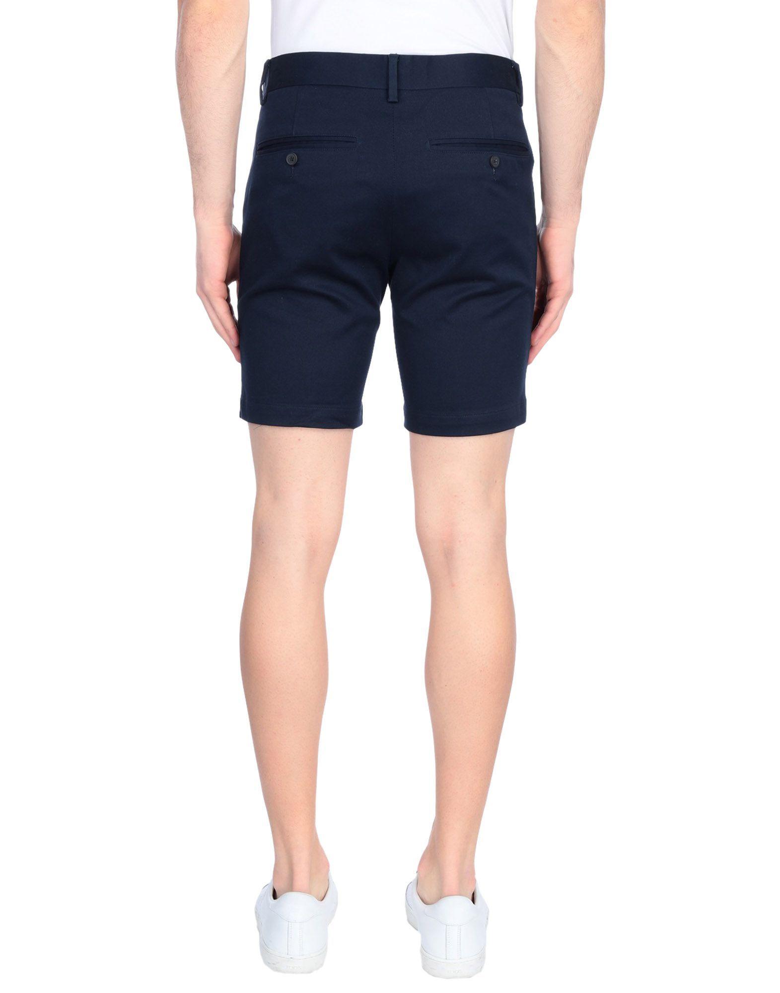 Minimum Dark Blue Cotton Shorts