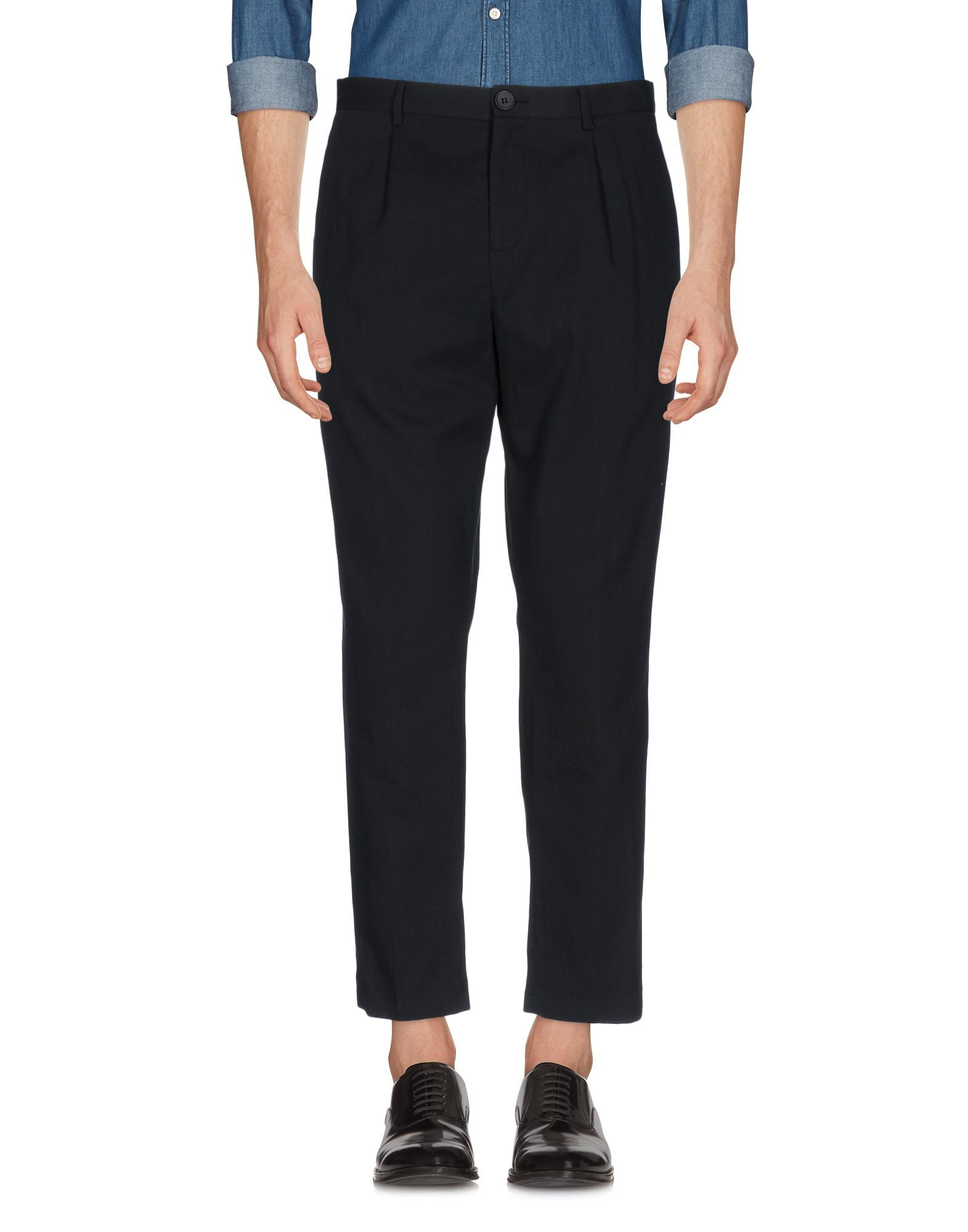 Selected Homme Black Cotton Trousers
