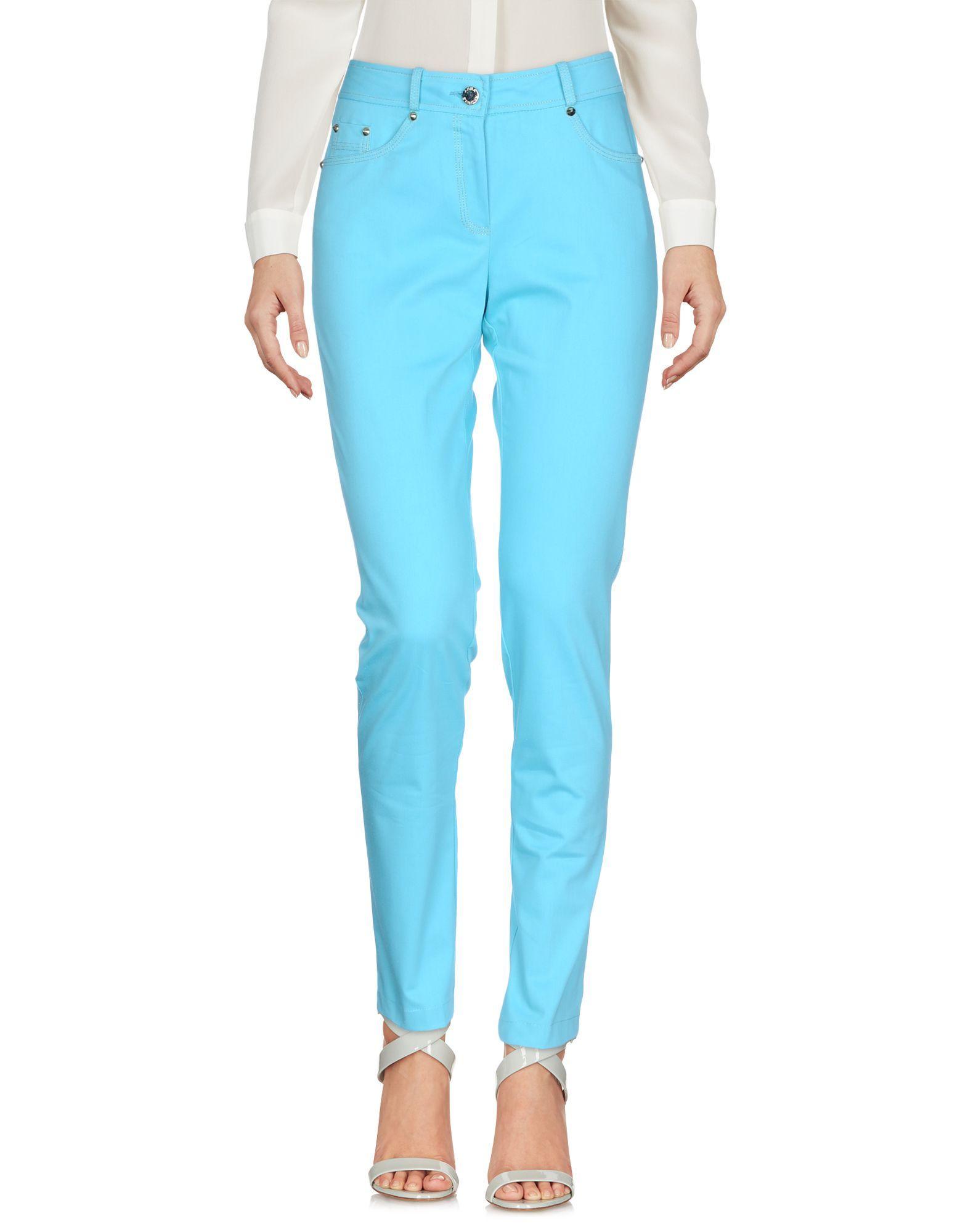 TROUSERS Anna Rachele Sky blue Woman Cotton