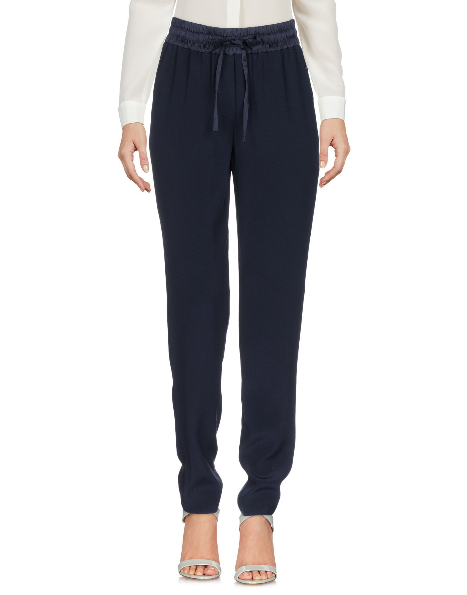 DKNY Dark Blue Drawstring Regular Fit Trousers