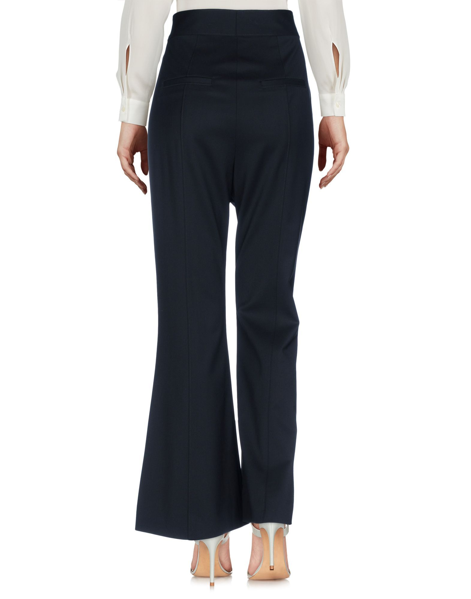 Proenza Schouler Black Virgin Wool Wide Leg Trousers