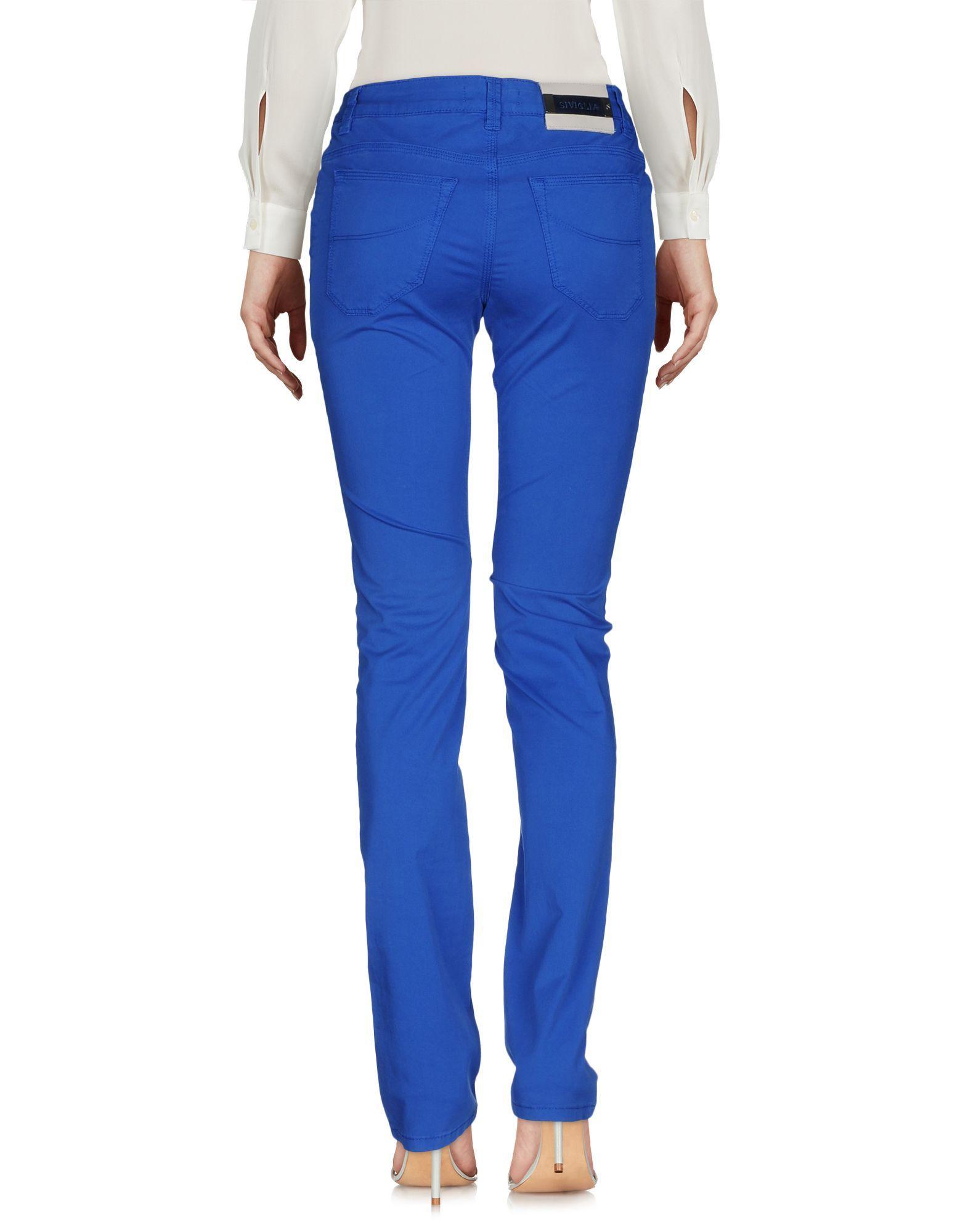 TROUSERS Siviglia Bright blue Woman Cotton