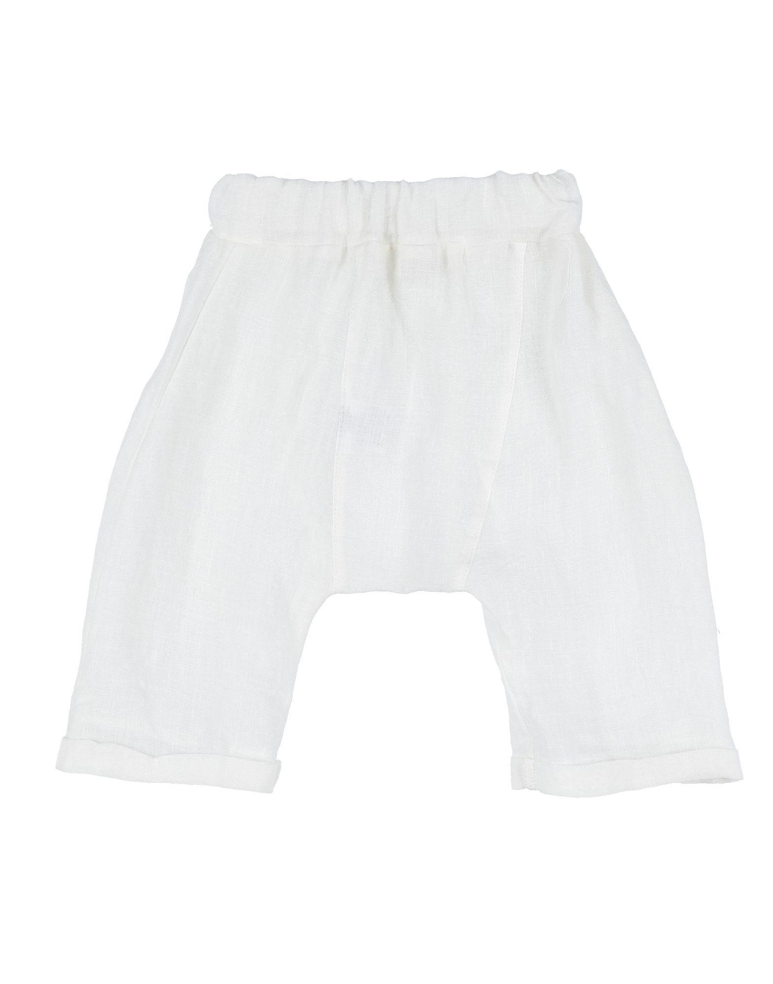 Latte E Biscotti® Girl Casual trousers Ivory Linen